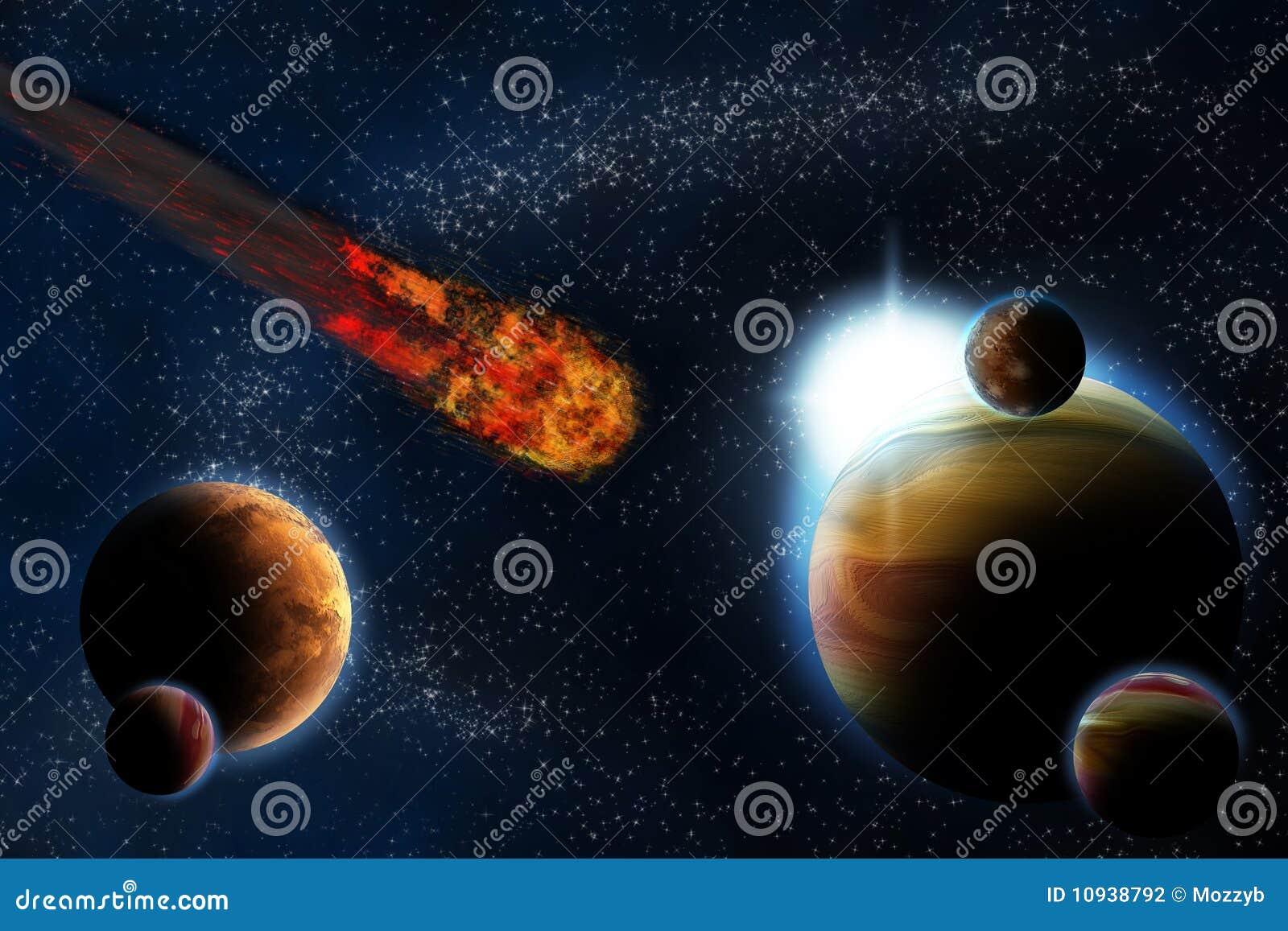 абстрактное глубокое солнце космоса планеты пирофакела