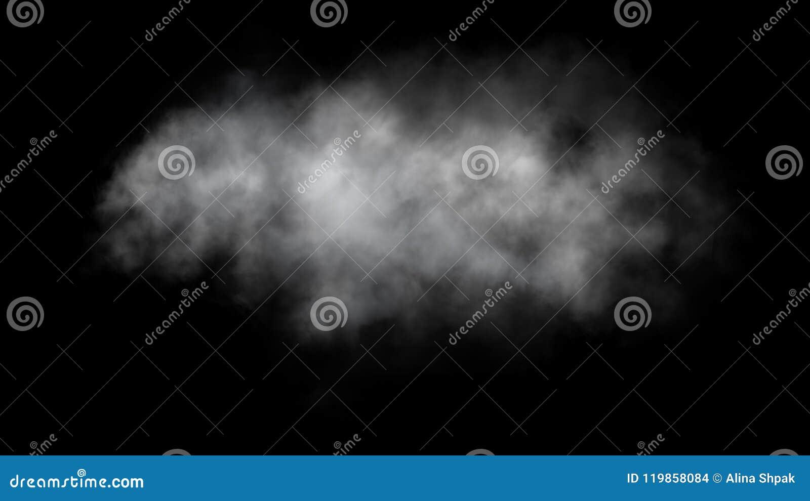 Абстрактное движение тумана или дыма на черной предпосылке