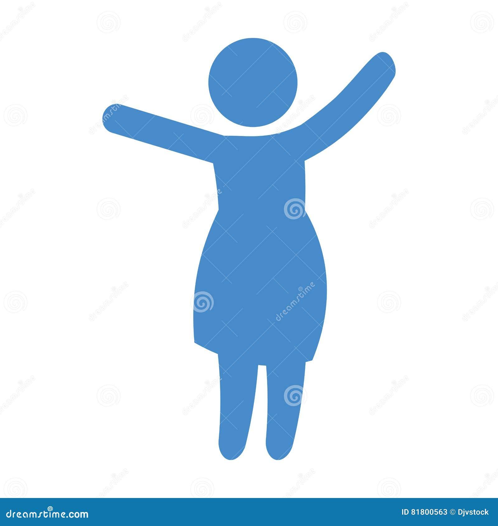 Абстрактное изображение значка женщины