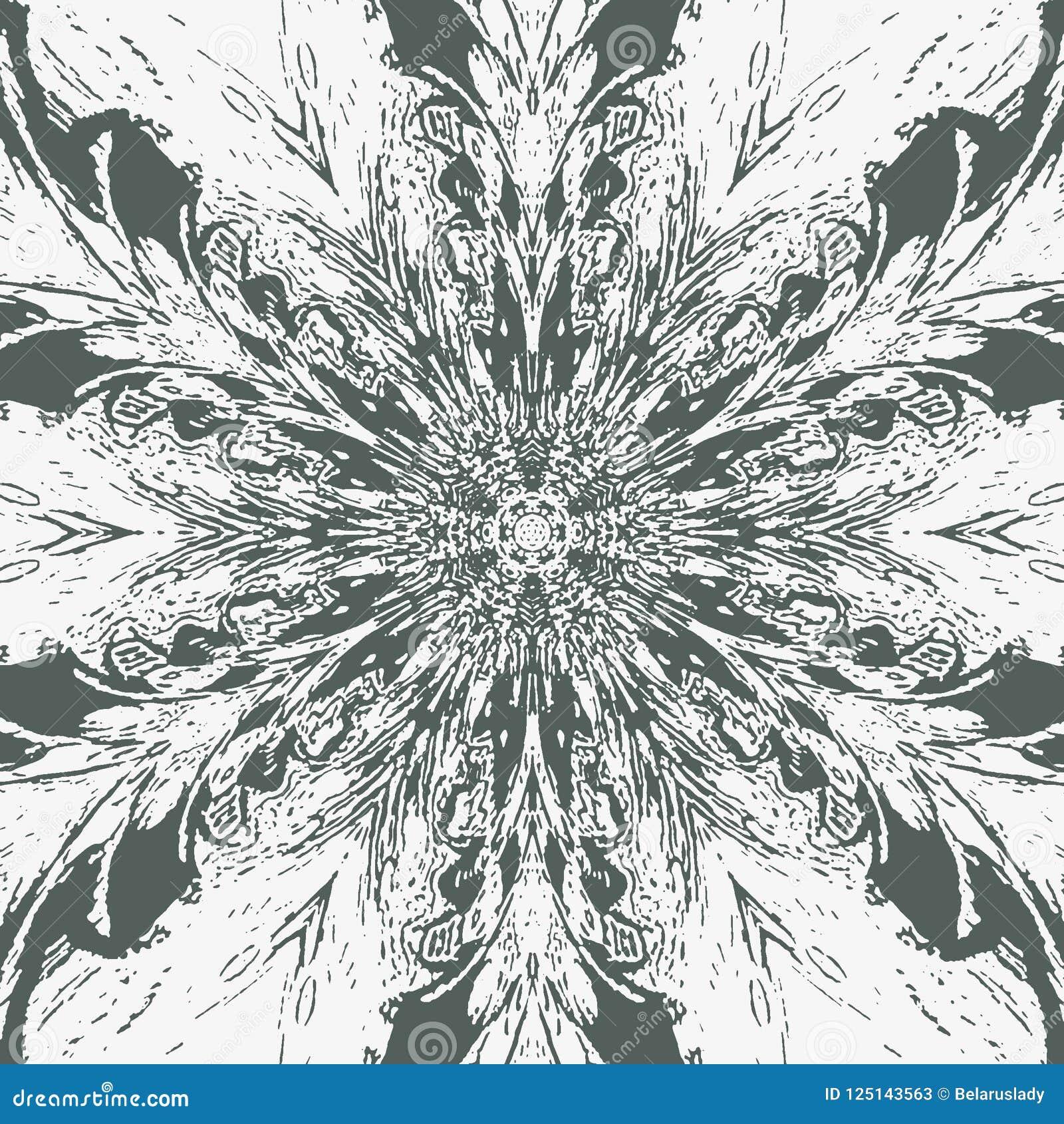 Абстрактное изображение на белом фоне Ратник самураев Картина пера Павлин оперяется предпосылка Картина татуировки