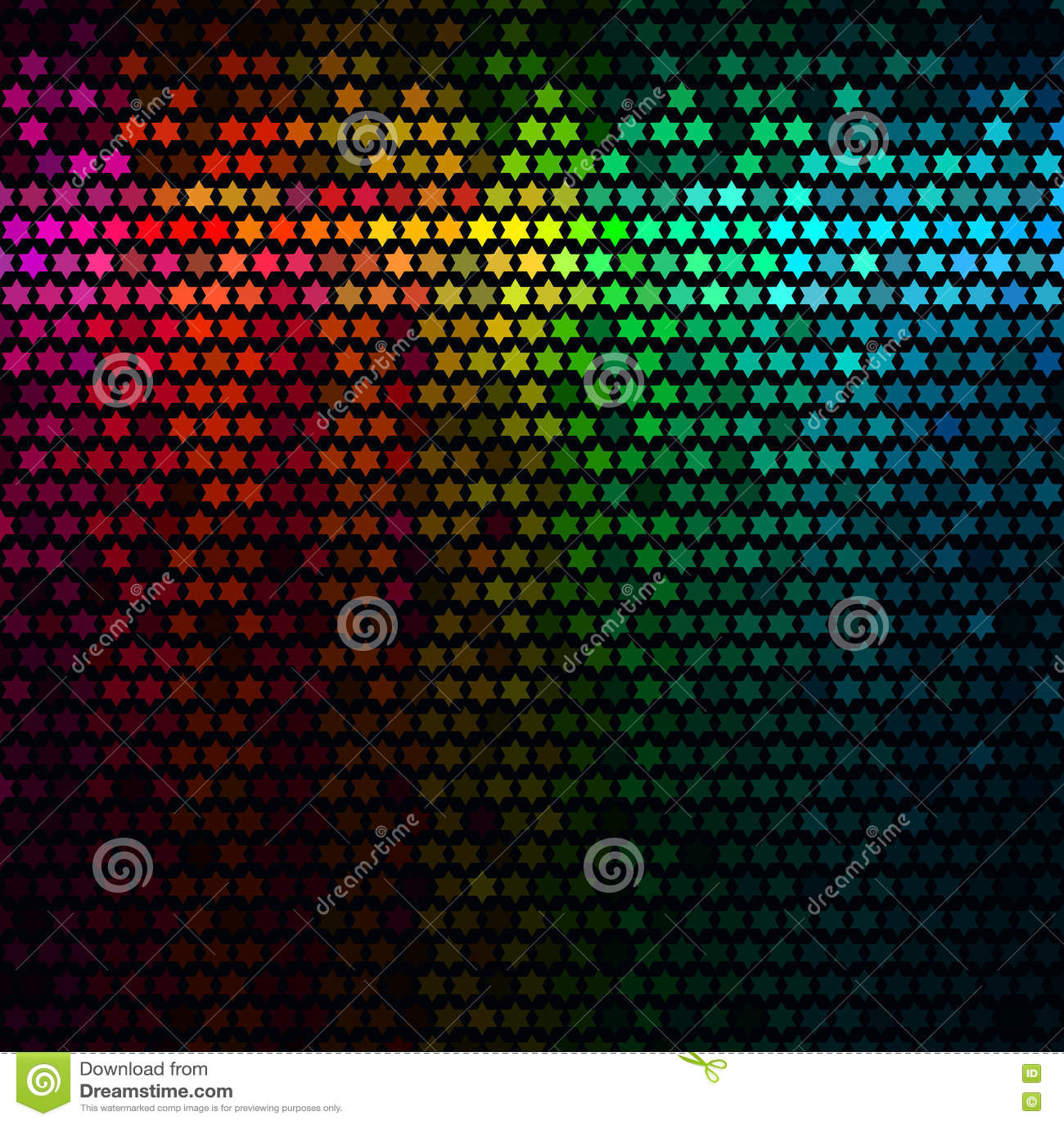 абстрактное диско предпосылки освещает вектор квадрата пиксела мозаики multicolor Вектор мозаики пиксела звезды