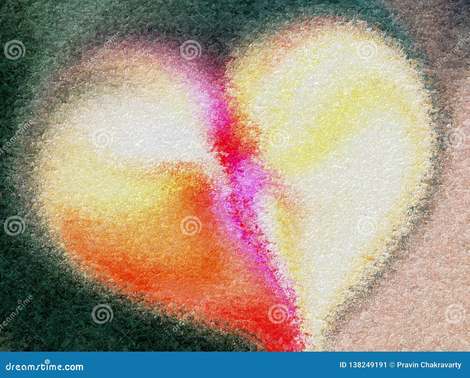 Абстрактное сердце Валентайн с текстурированной предпосылкой