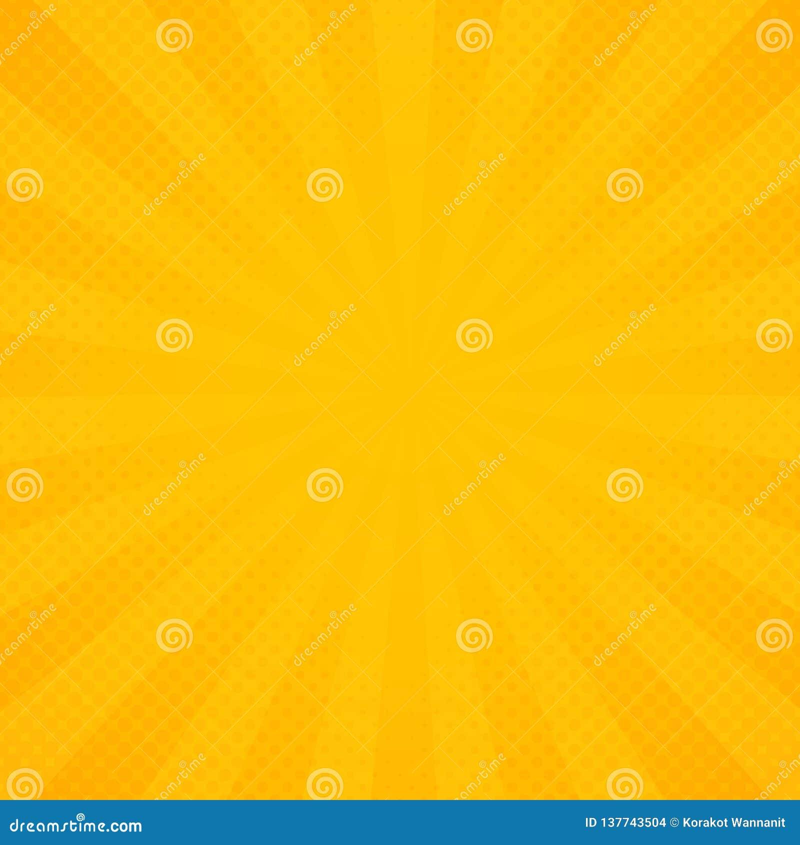 Абстрактное солнце желтой и оранжевой предпосылки картины лучей сияния
