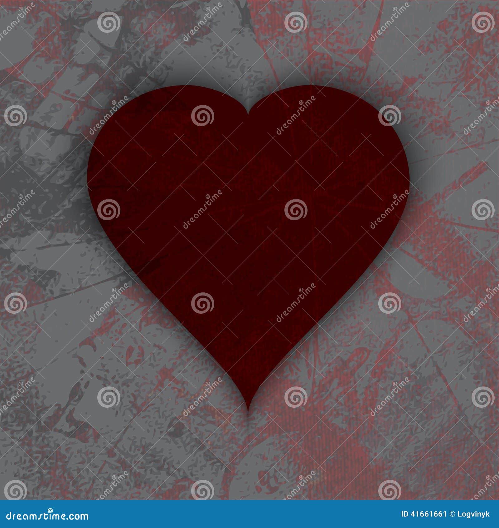 Абстрактное темное сердце grunge сбор винограда бумаги орнамента предпосылки геометрический старый