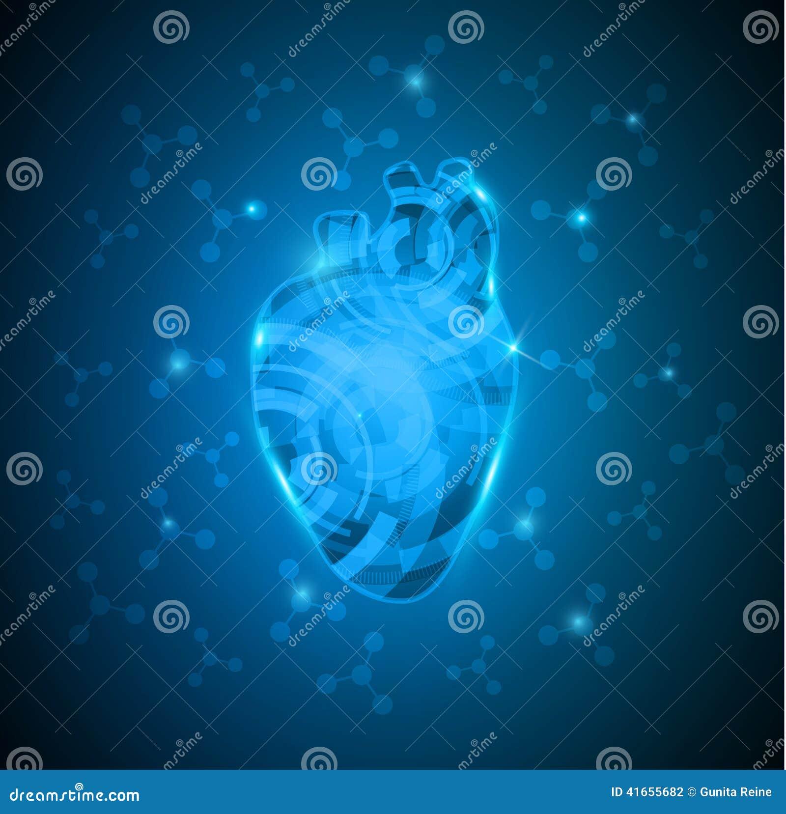 Абстрактное человеческое сердце шестерней