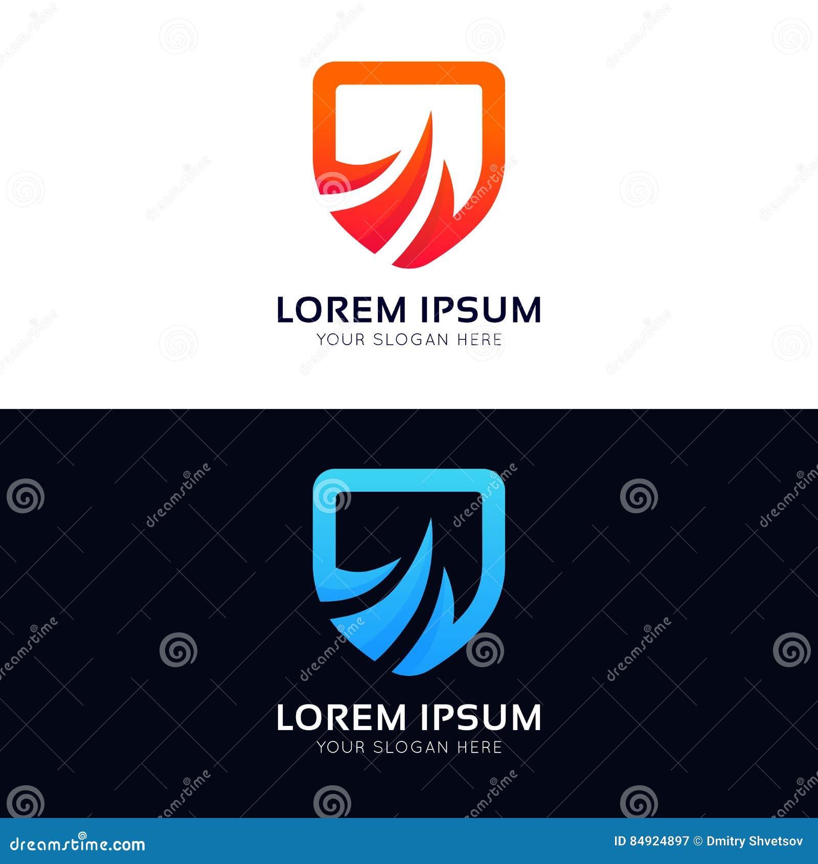 Абстрактное vecto значка логотипа компании знака экрана безопасностью защиты