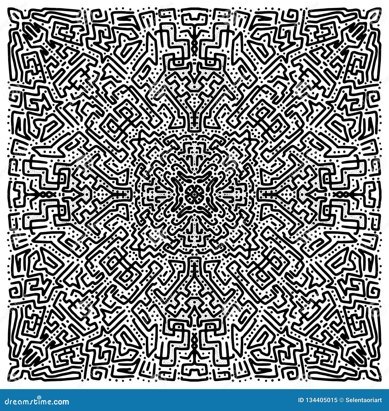 Абстрактной предпосылка doodle нарисованная рукой
