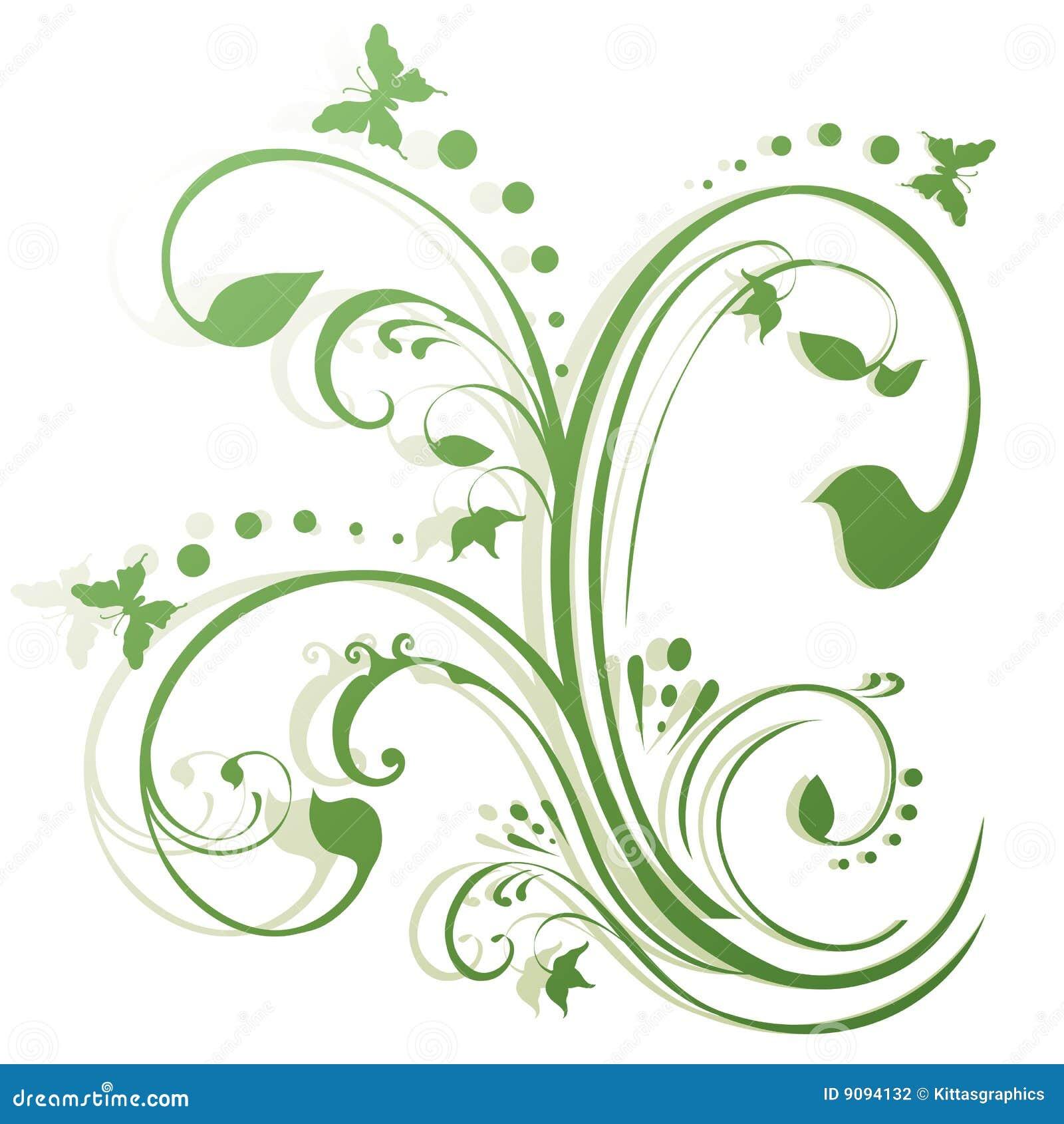 абстрактные бабочки конструируют флористическое
