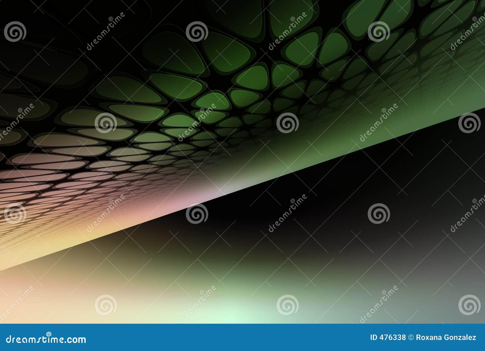 абстрактные зеленые линии