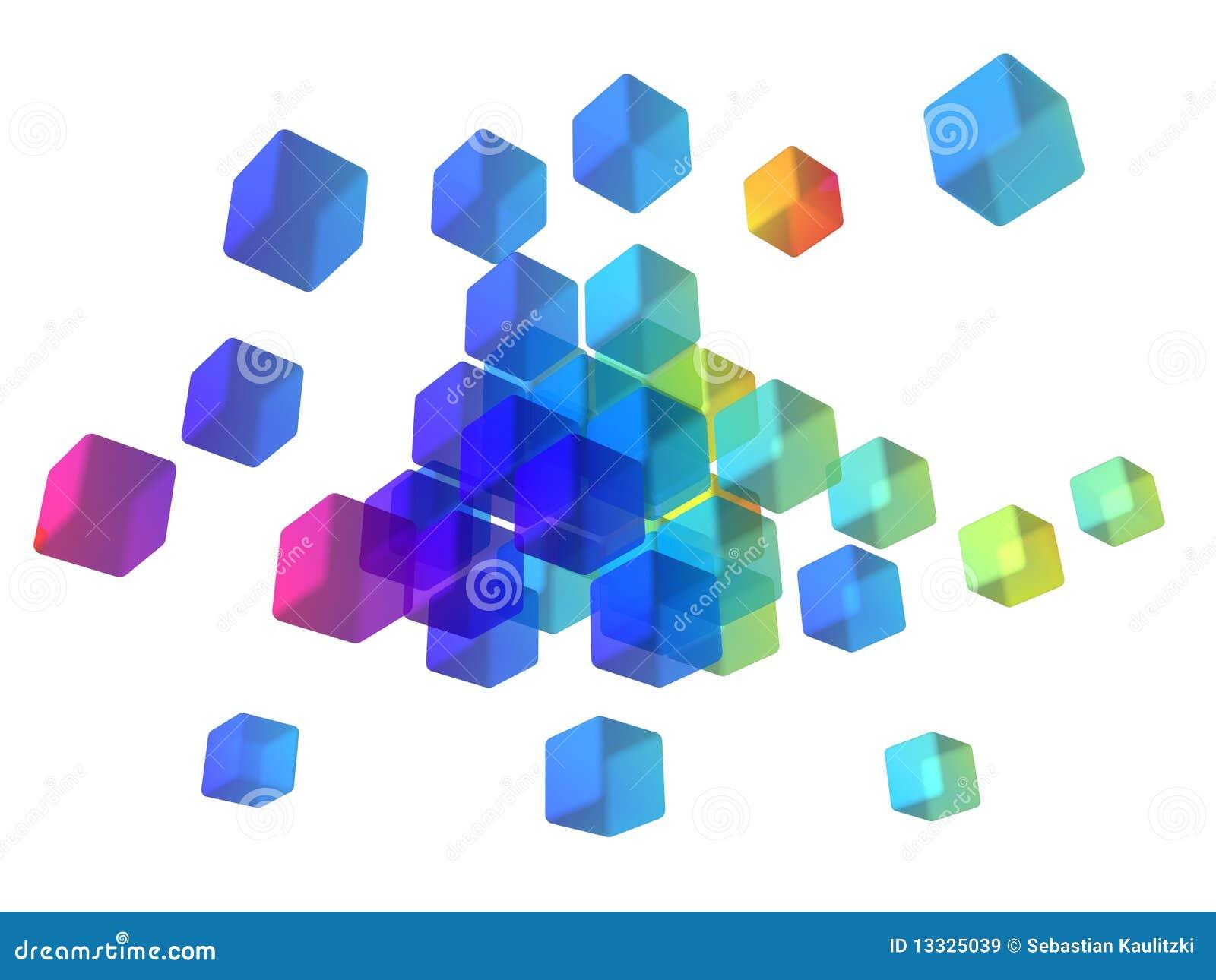 абстрактные кубики