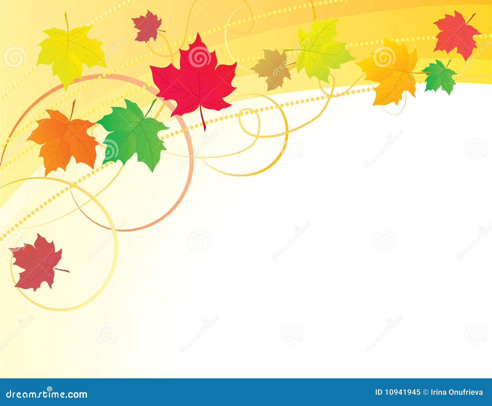 абстрактные листья предпосылки осени