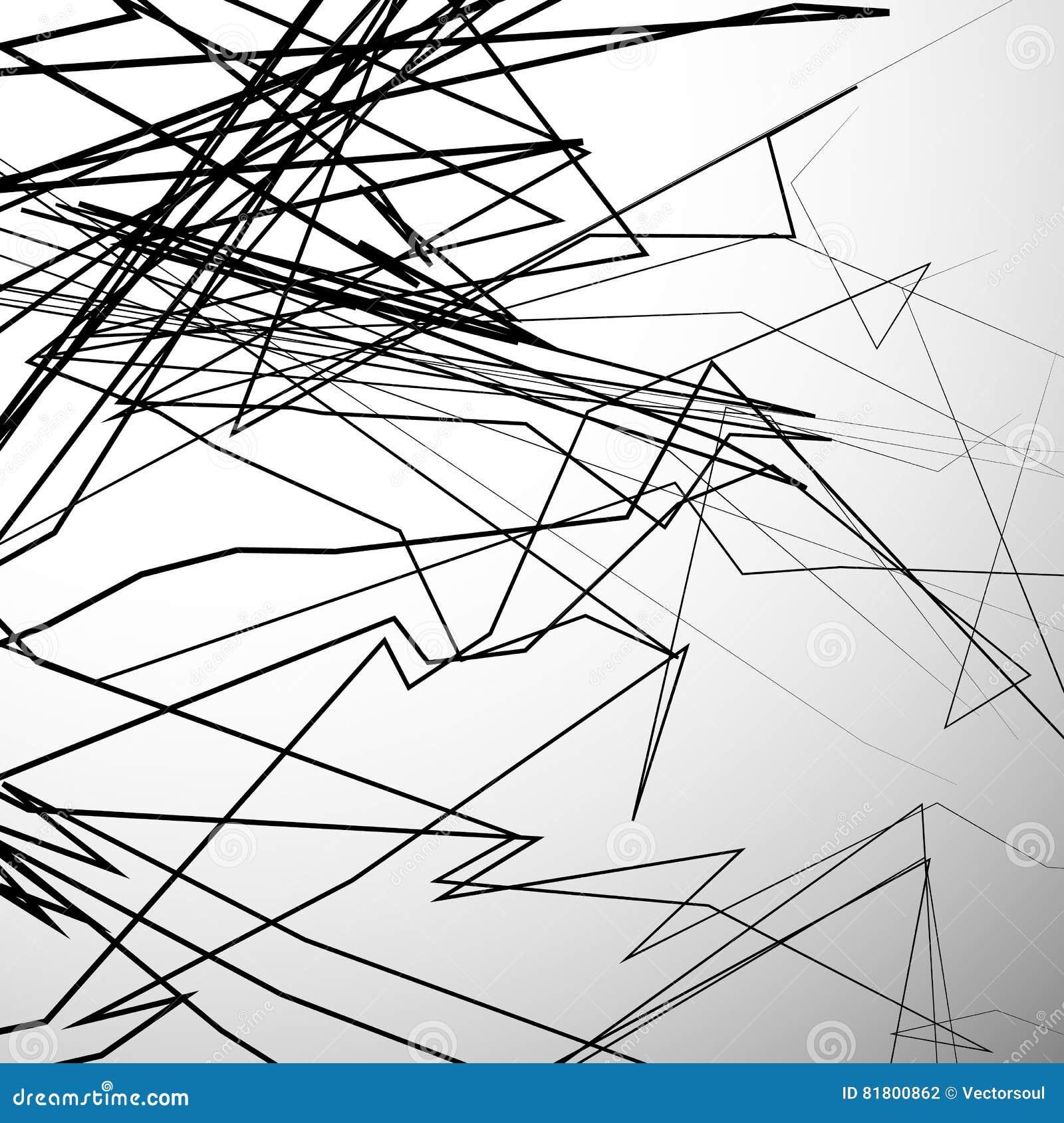 Абстрактные нервные линии художническая предпосылка серой шкалы