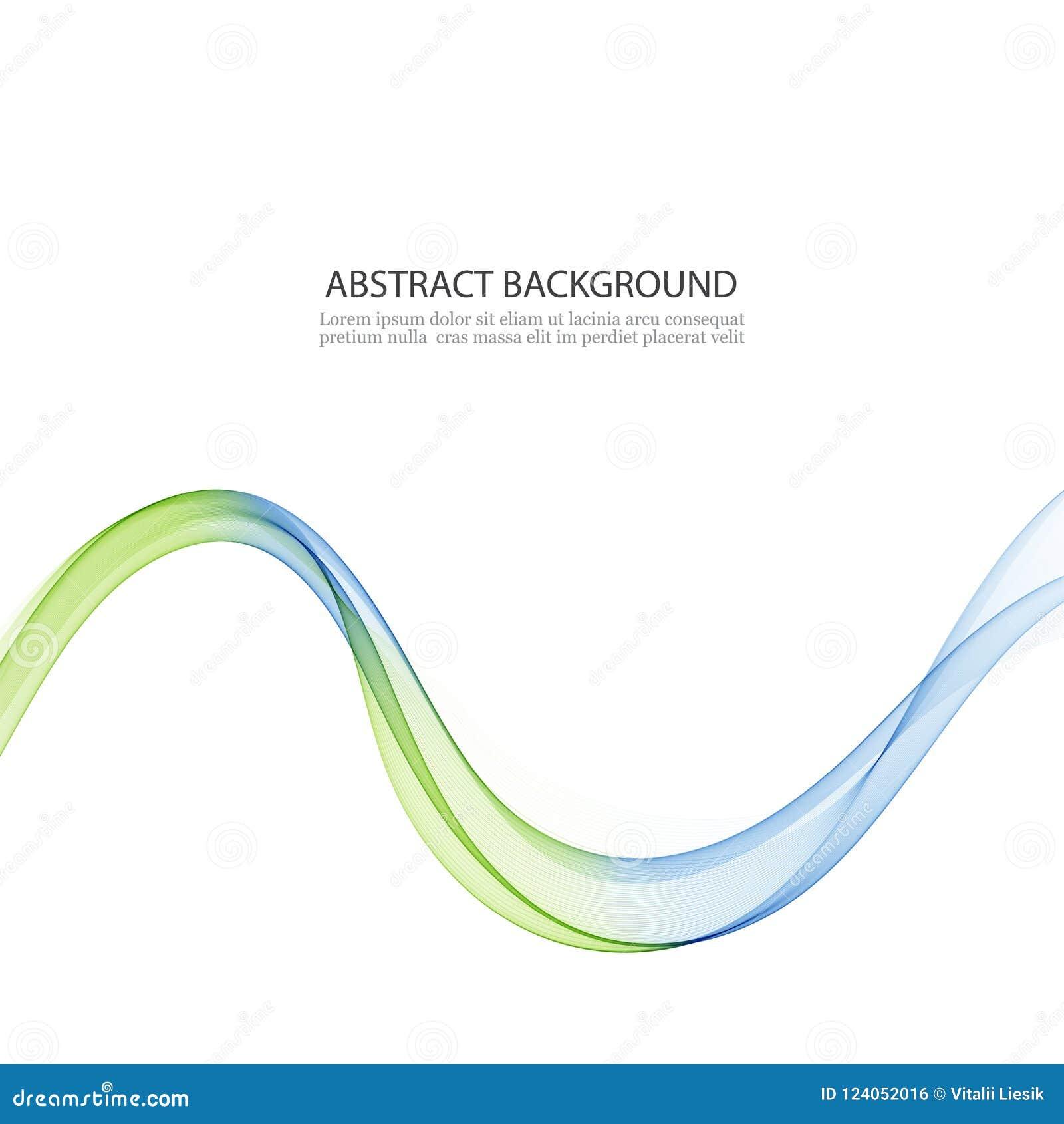 Абстрактные предпосылка, синь и зеленый цвет вектора развевали линии для брошюры, вебсайта, дизайна рогульки Прозрачный приглажив