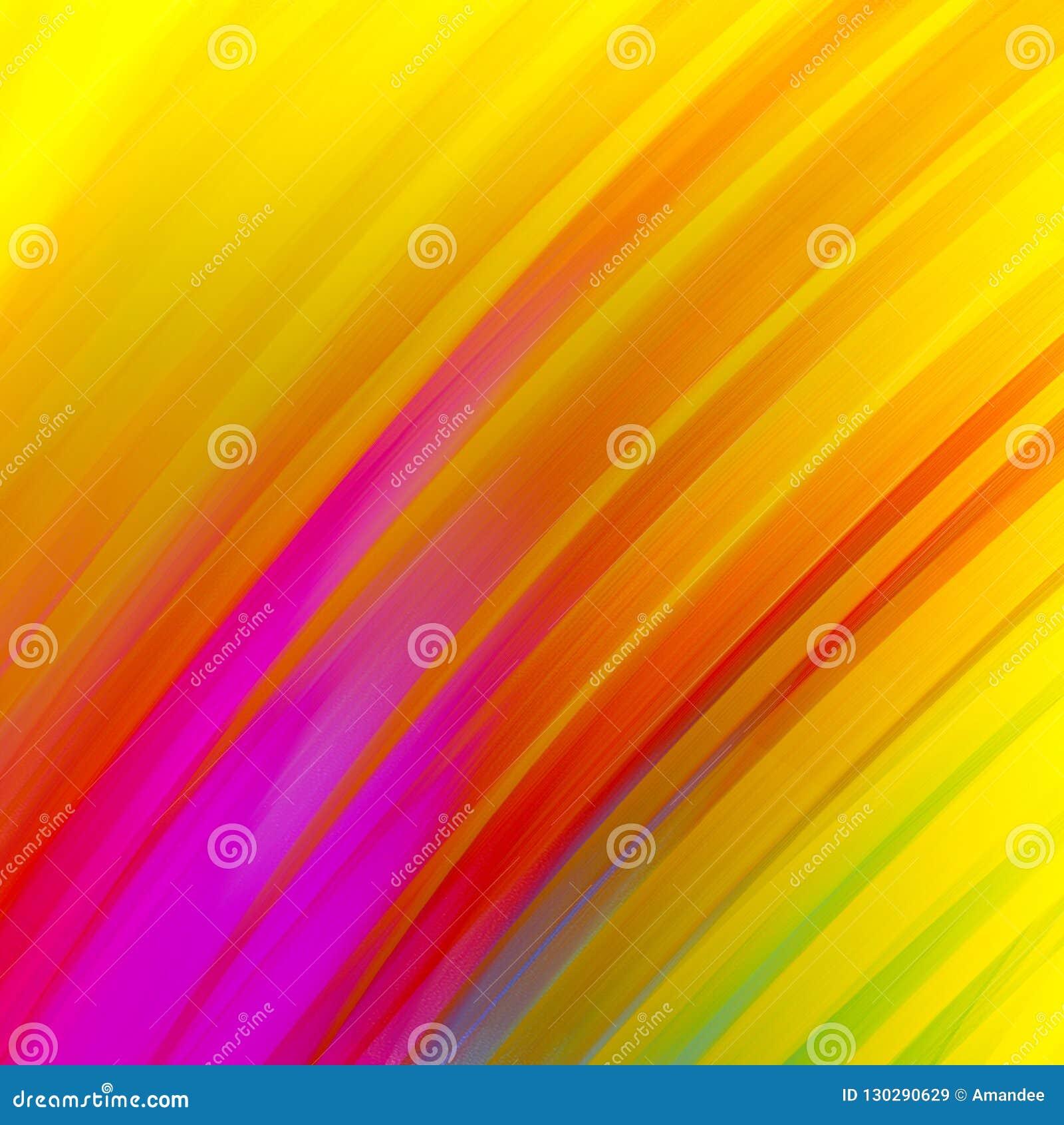 Абстрактные раскосные нашивки в зеленом цвете и пинке смелого золота пурпурном красном голубом на желтой предпосылке, драматическ