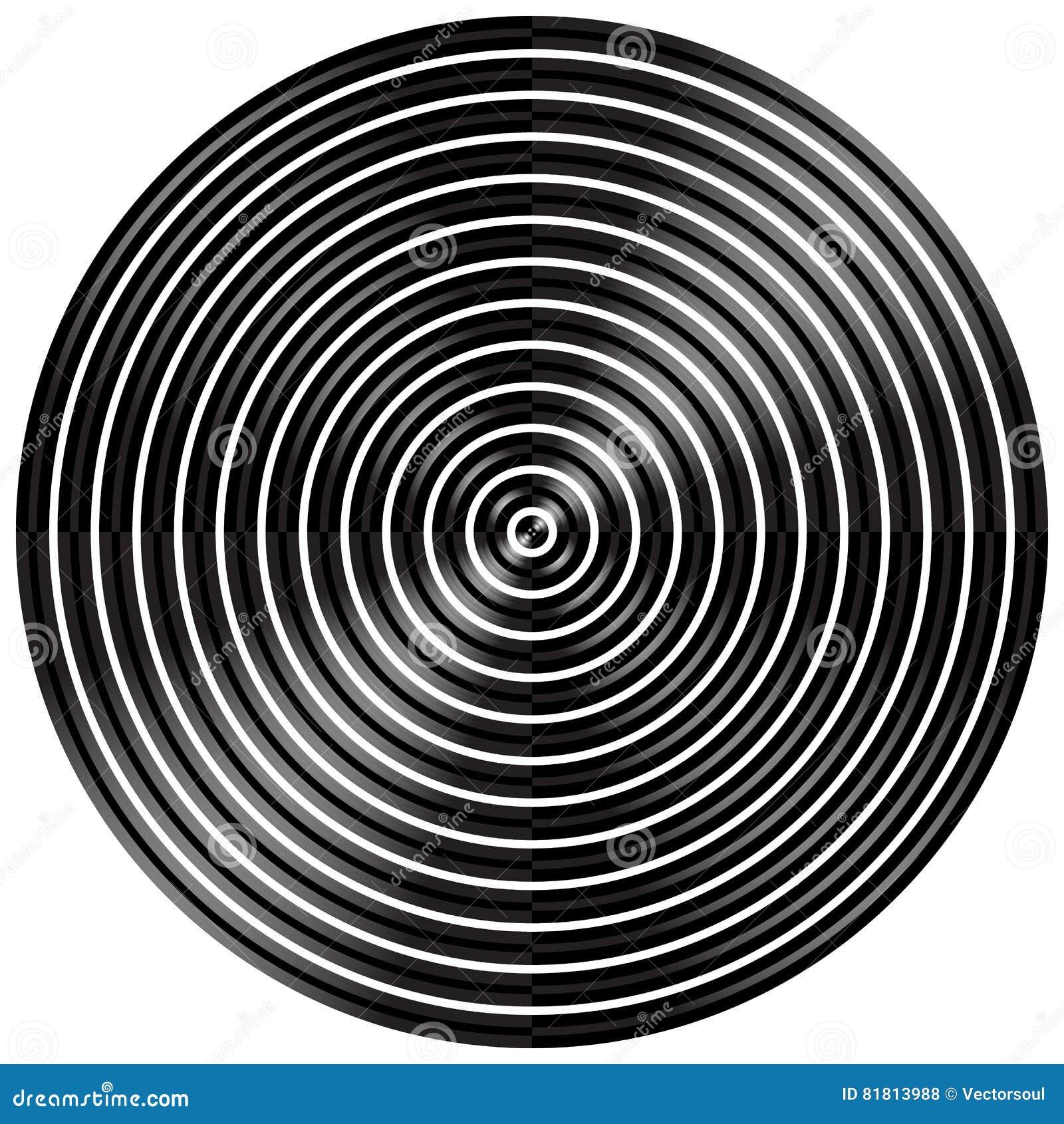 Абстрактные радиальные, концентрические круги, кольца