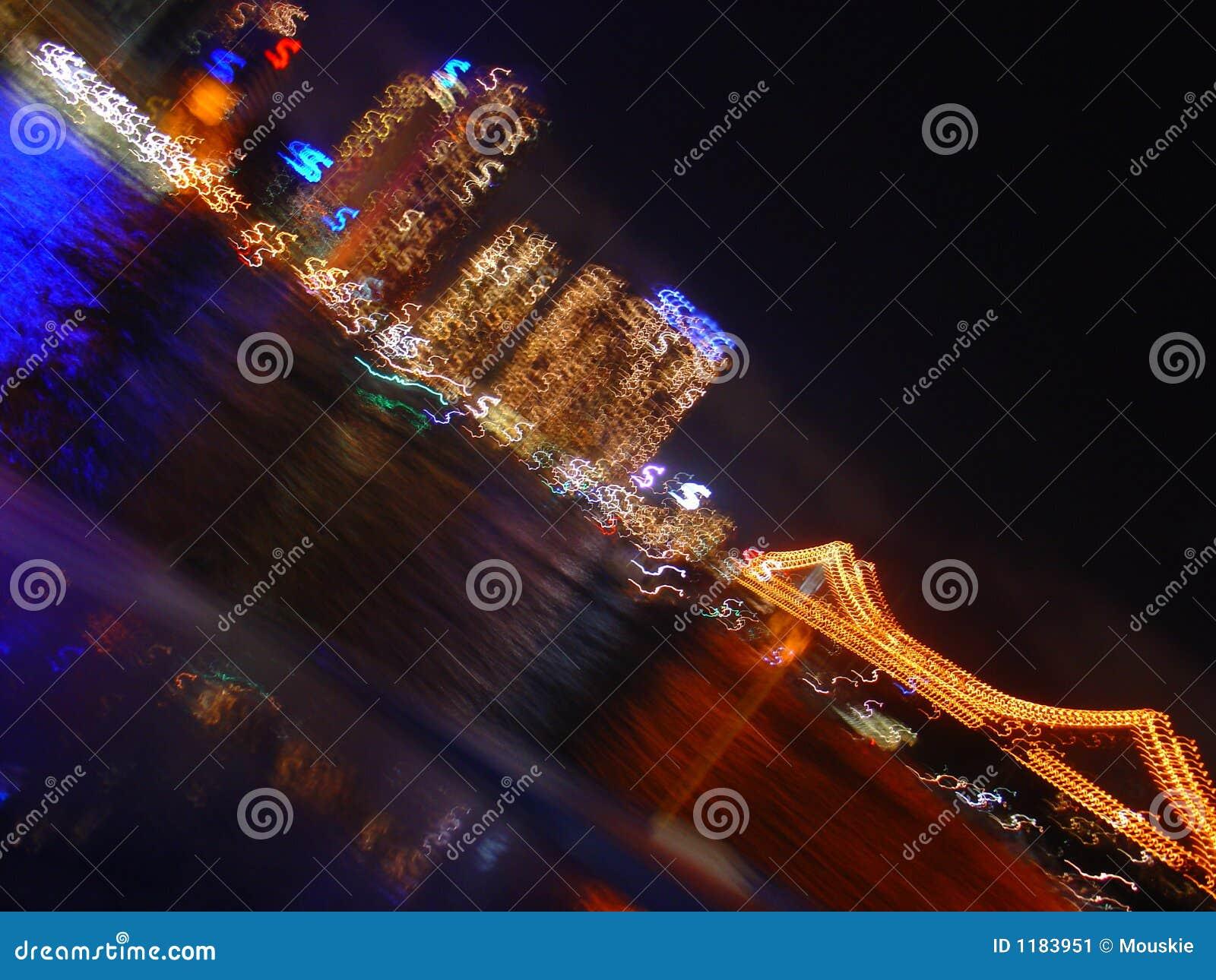 абстрактные света города
