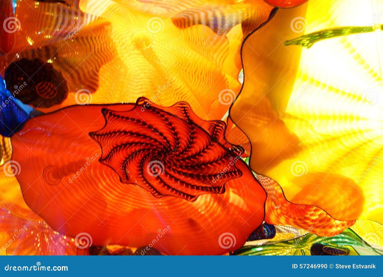 Абстрактные цвета выдувного стекла