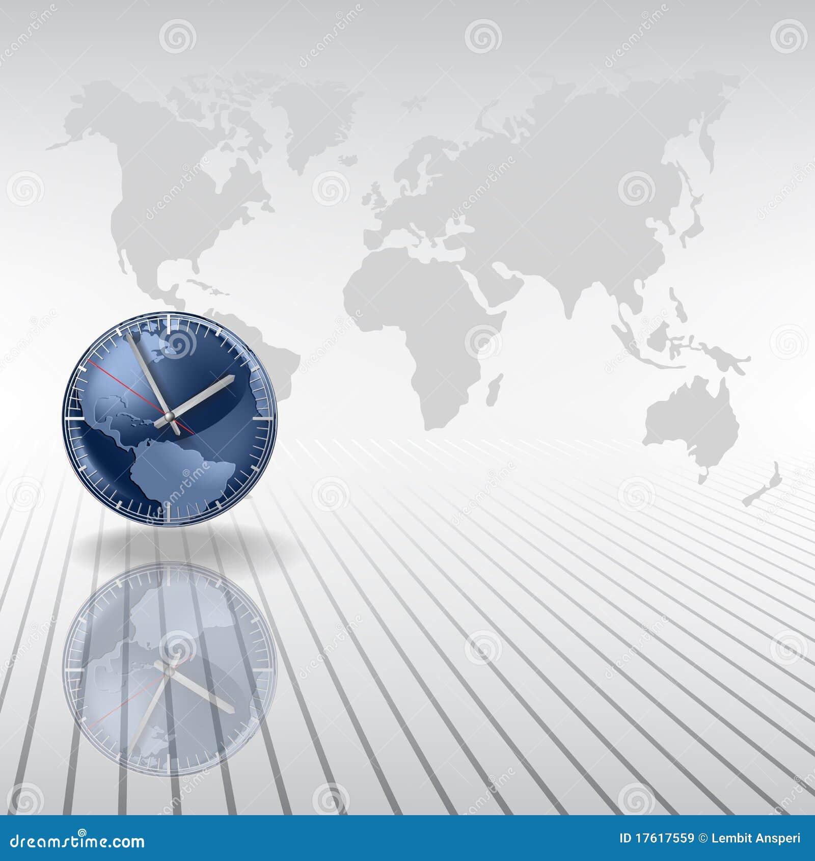 абстрактные часы предпосылки