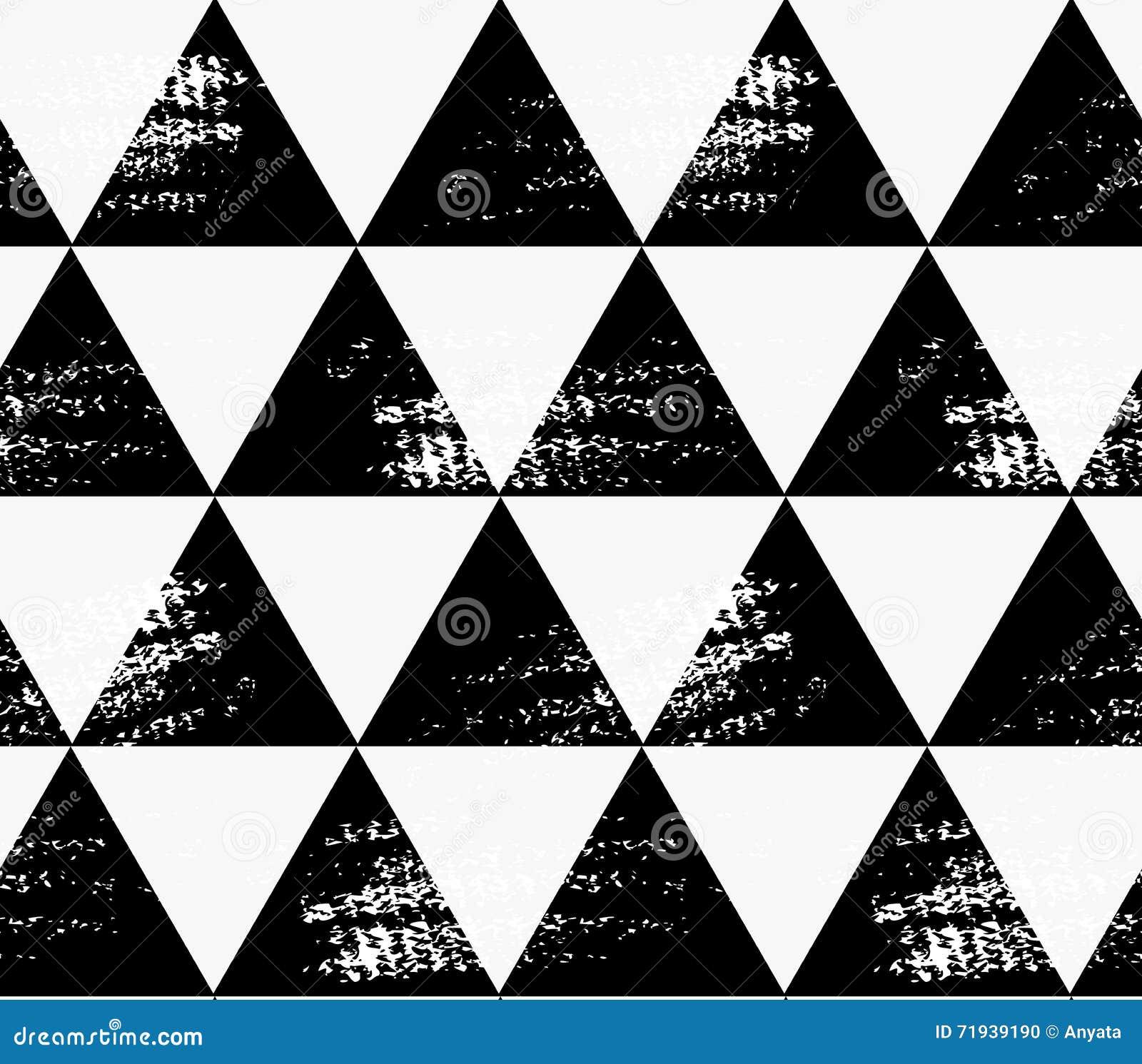 Абстрактные черные треугольники с grunge