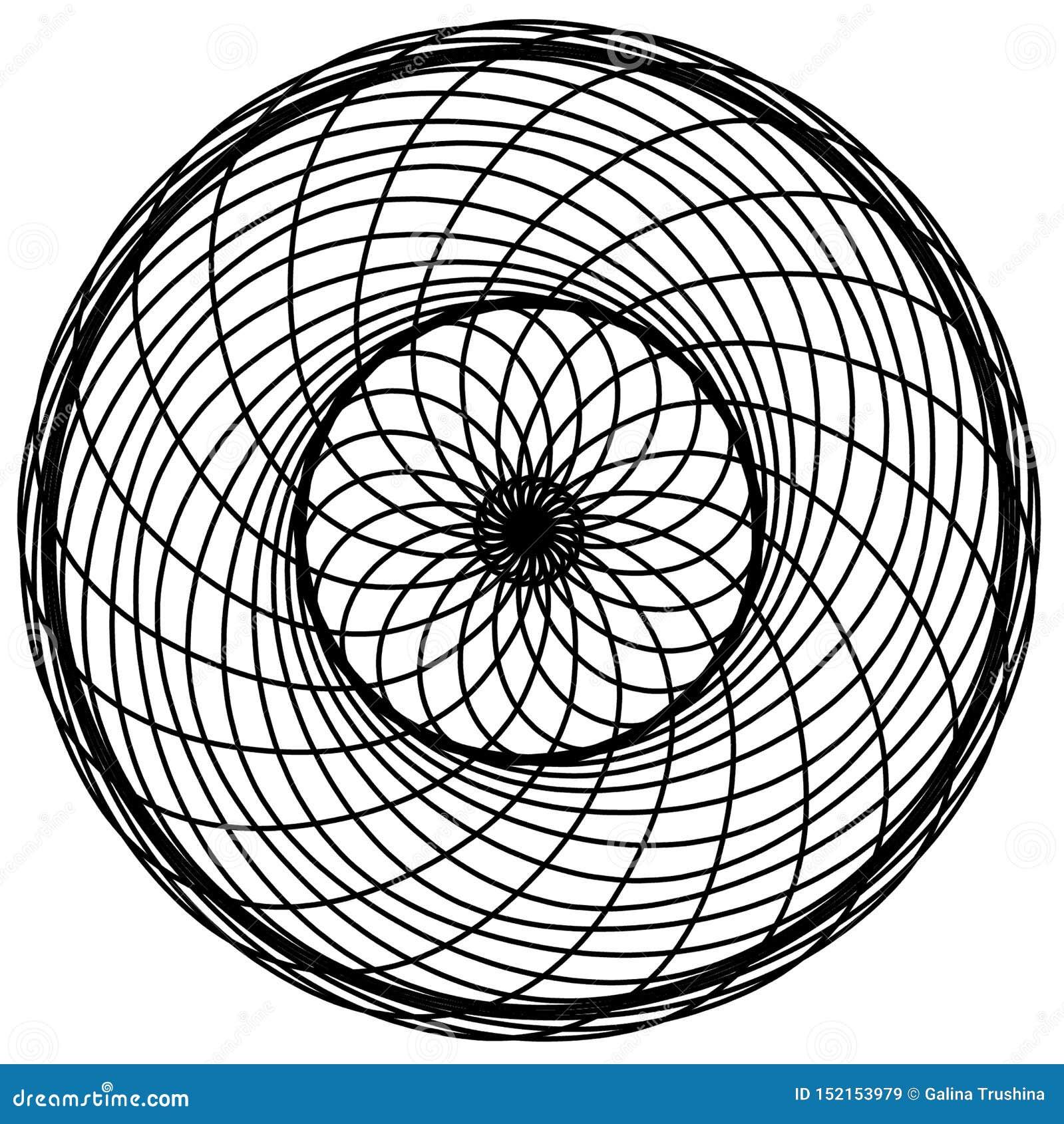 Абстрактные элементы кругов Dreamcatcher Астрология, духовность, волшебный символ Этнический племенной элемент