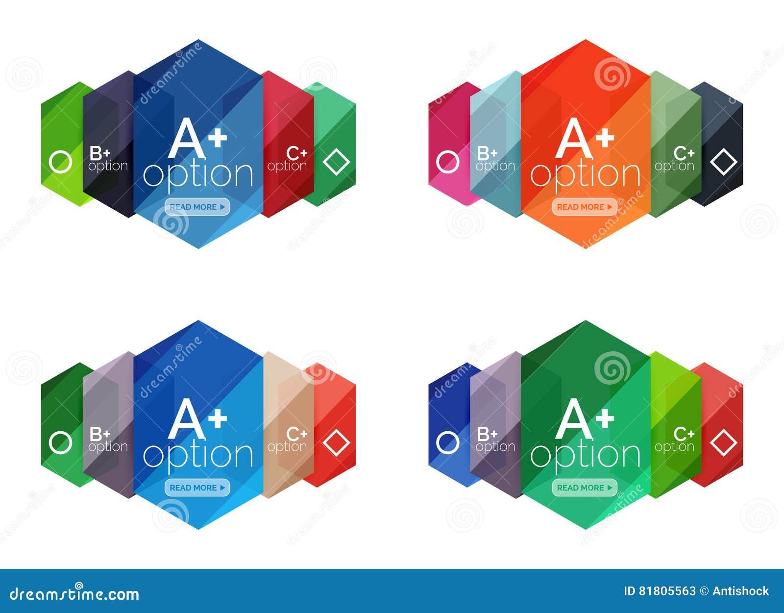 Абстрактные infographic знамена для вашего содержания