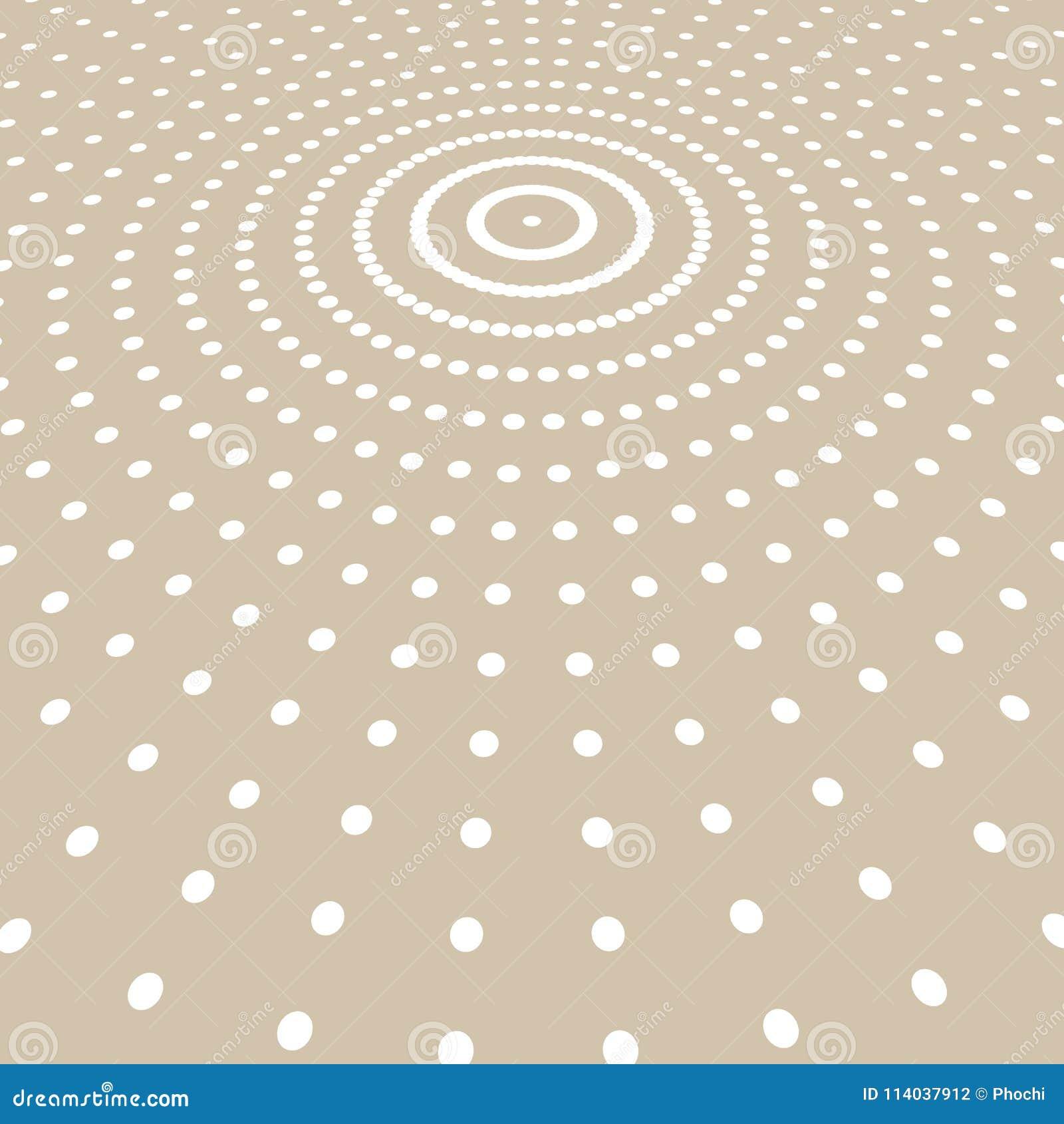 Абстрактный белый радиус полутонового изображения картины точек цвета на русом