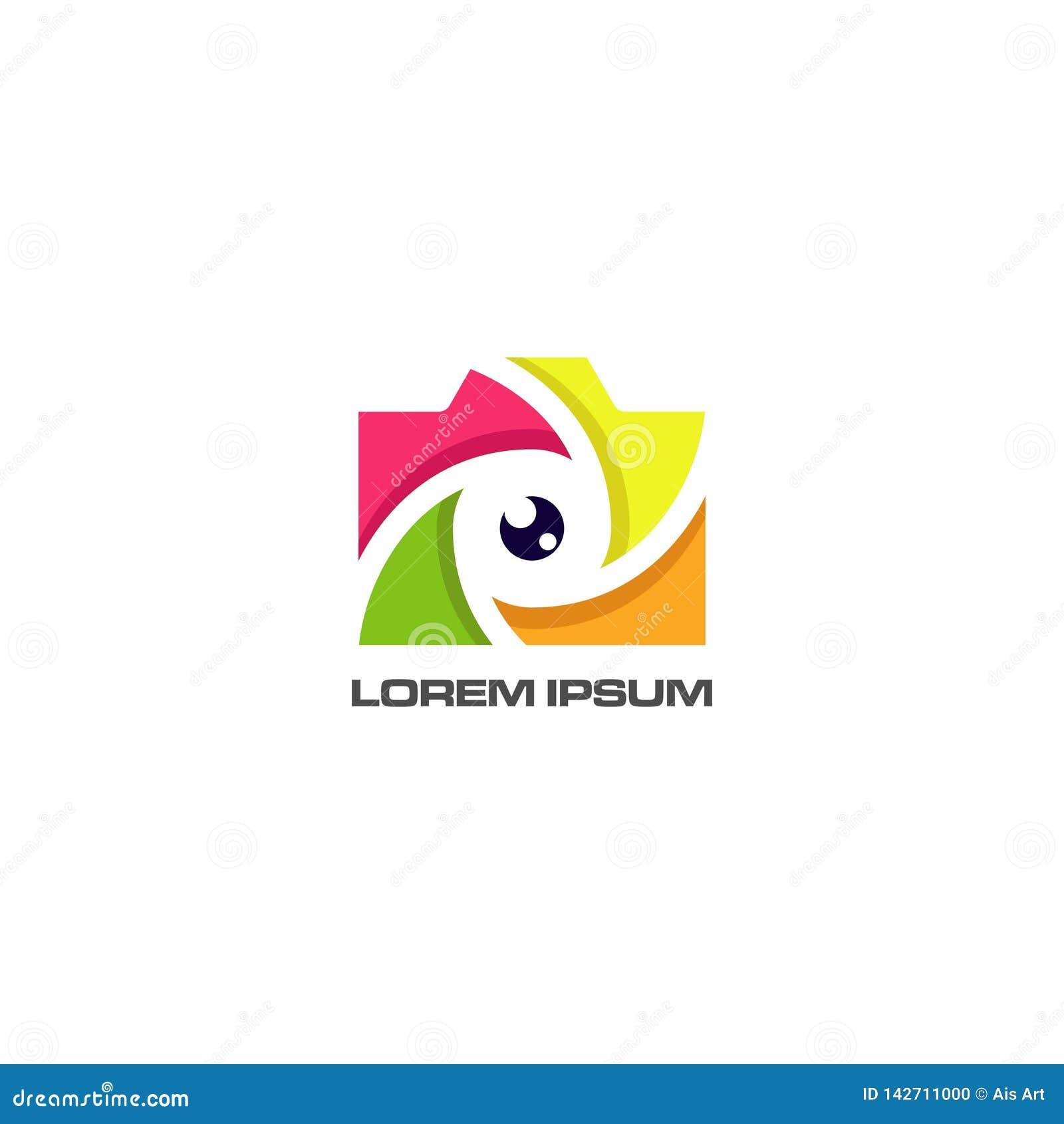 Абстрактный вектор дизайна логотипа глаза камеры
