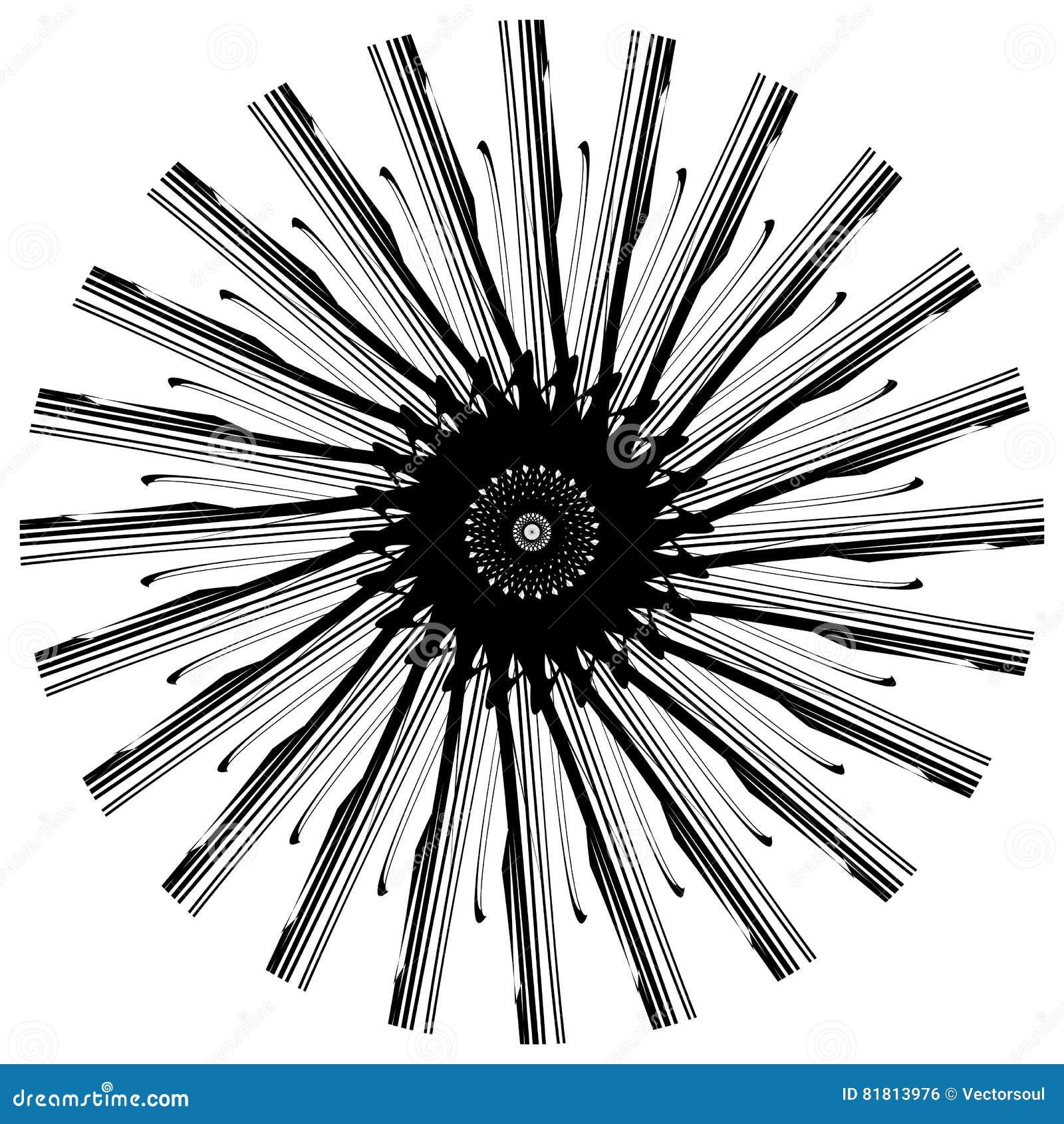 Абстрактный геометрический круговой элемент Излучать скачками форму