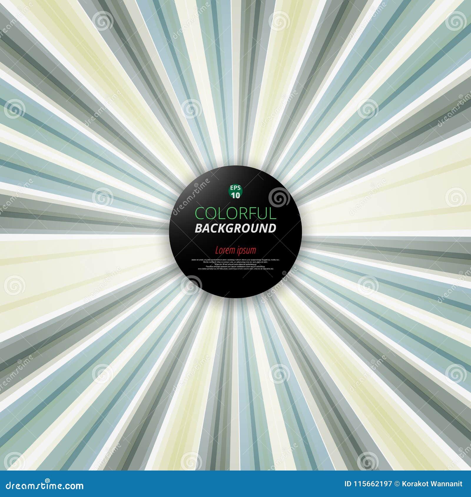 Абстрактный геометрический radial треугольника красочного в зеленой предпосылке тона Украшение для предпосылки движения скорости