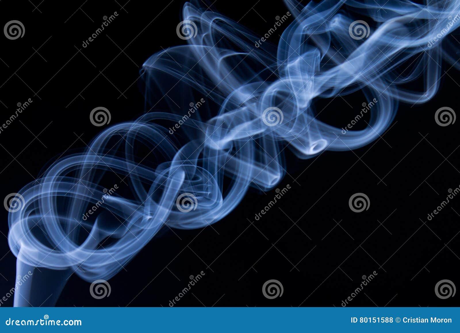 абстрактный голубой дым