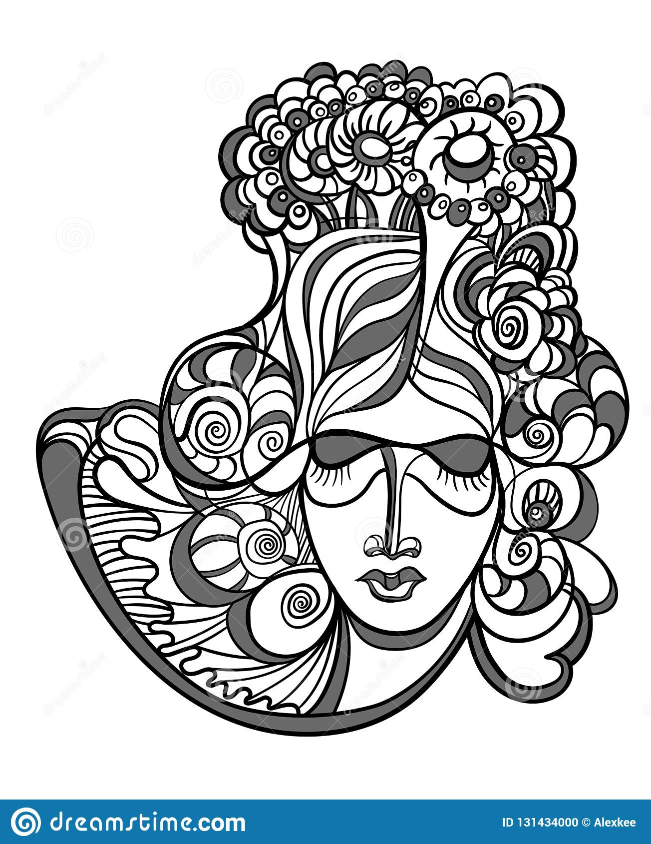 Абстрактный дизайн со стороной женщины