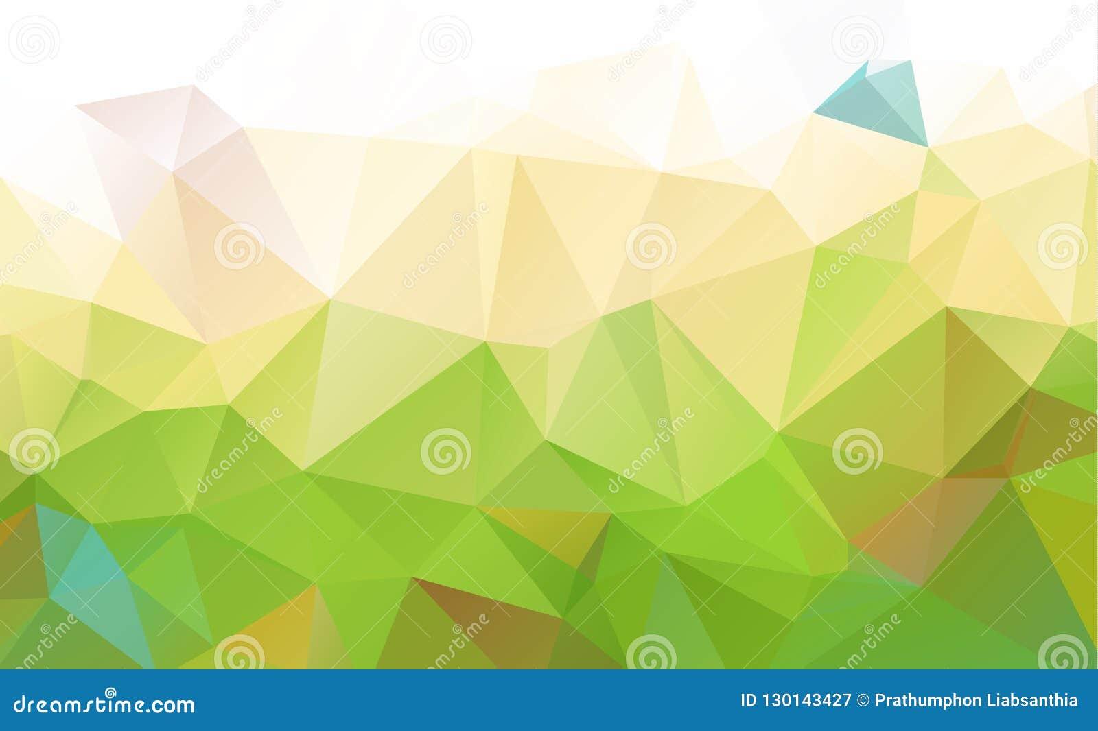 Абстрактный зеленый цвет которые состоят из треугольников предпосылка геометрическая
