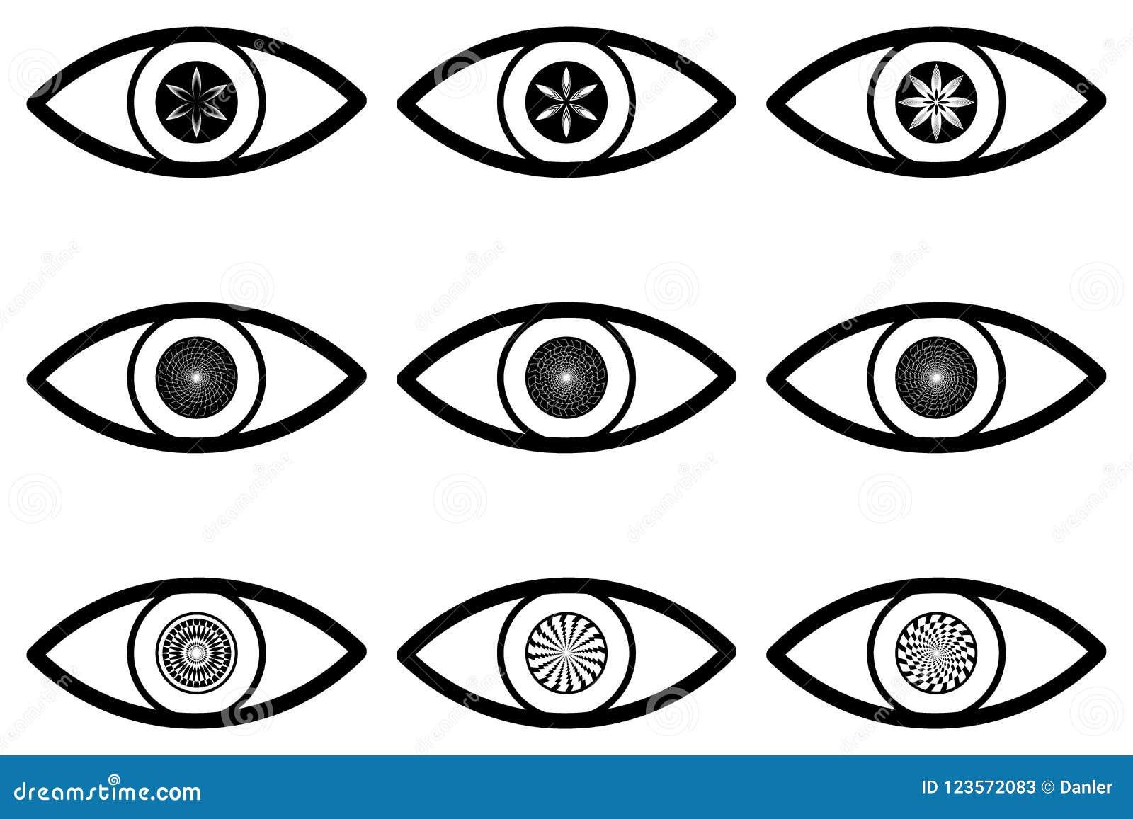 Абстрактный значок глаза
