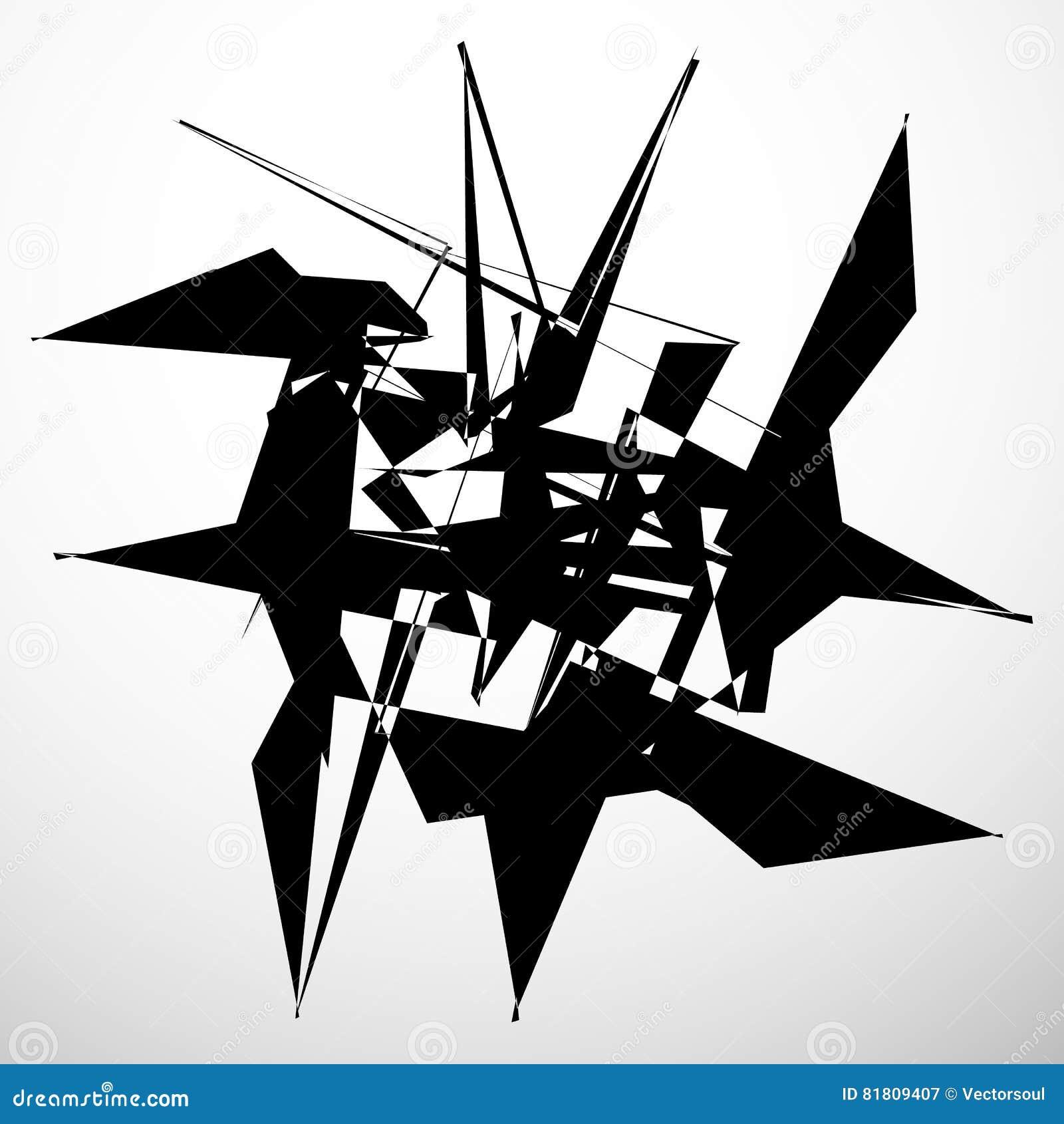 Абстрактный изолированный геометрический элемент Случайная хаотическая форма