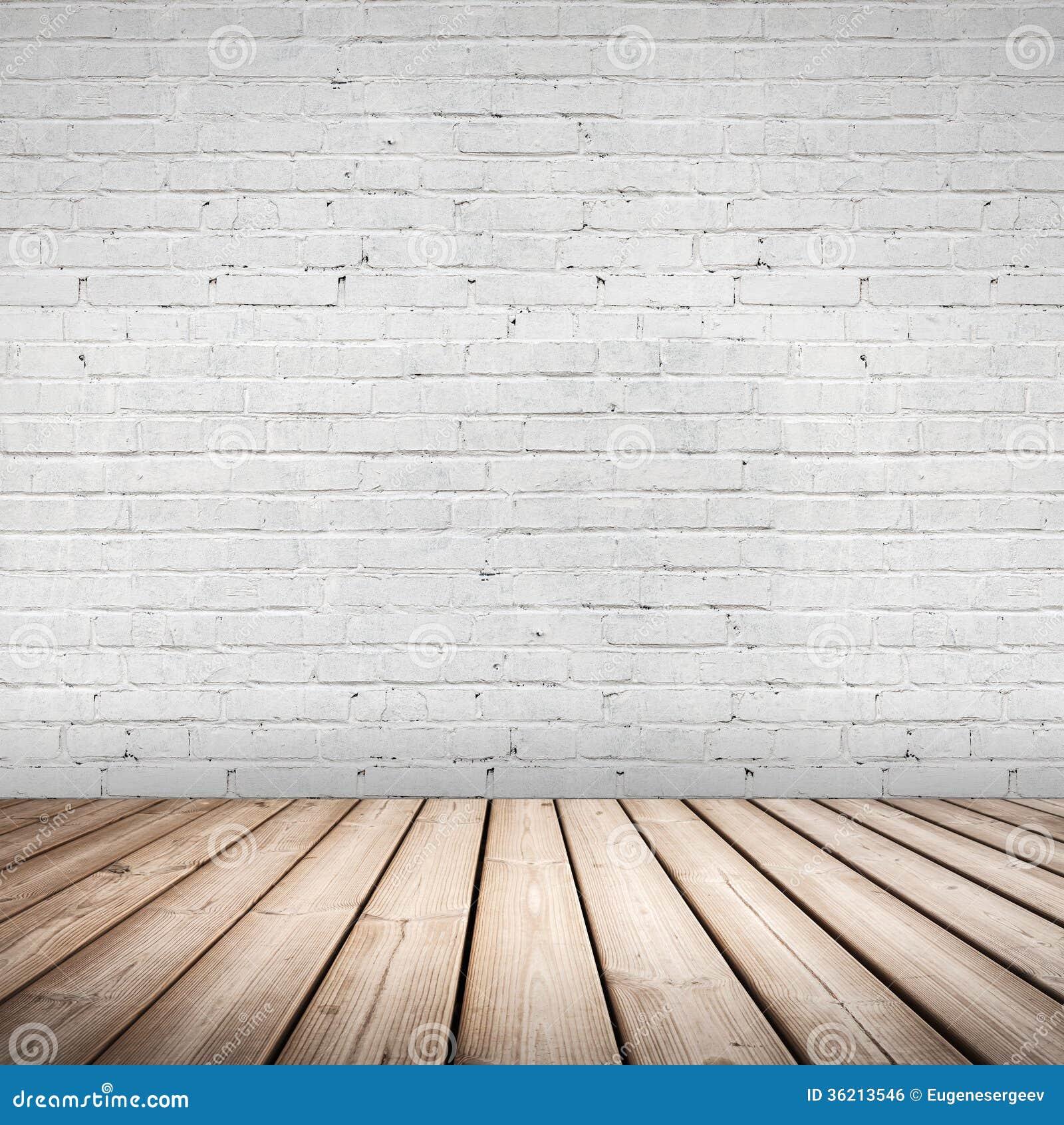 Абстрактный интерьер. Деревянный пол и белая стена