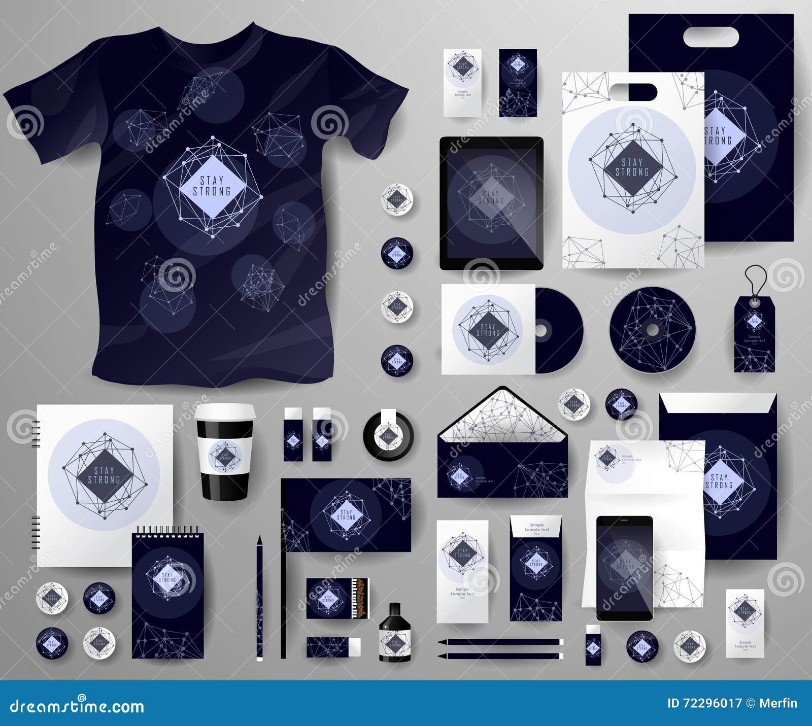 Download Абстрактный комплект дела Шаблоны фирменного стиля космические Иллюстрация вектора - иллюстрации насчитывающей знамена, линия: 72296017