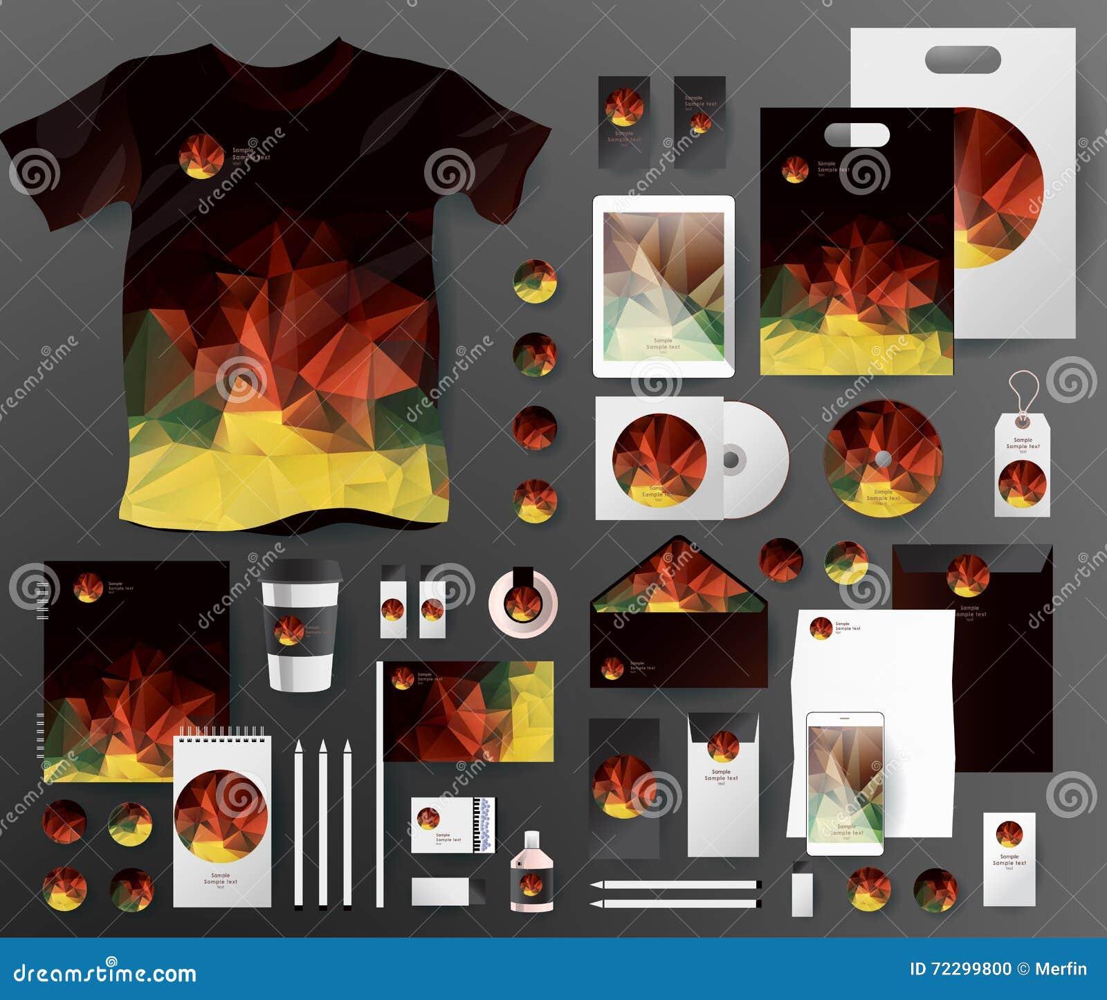 Download Абстрактный комплект дела Шаблоны фирменного стиля Иллюстрация вектора - иллюстрации насчитывающей цифрово, корпоративно: 72299800