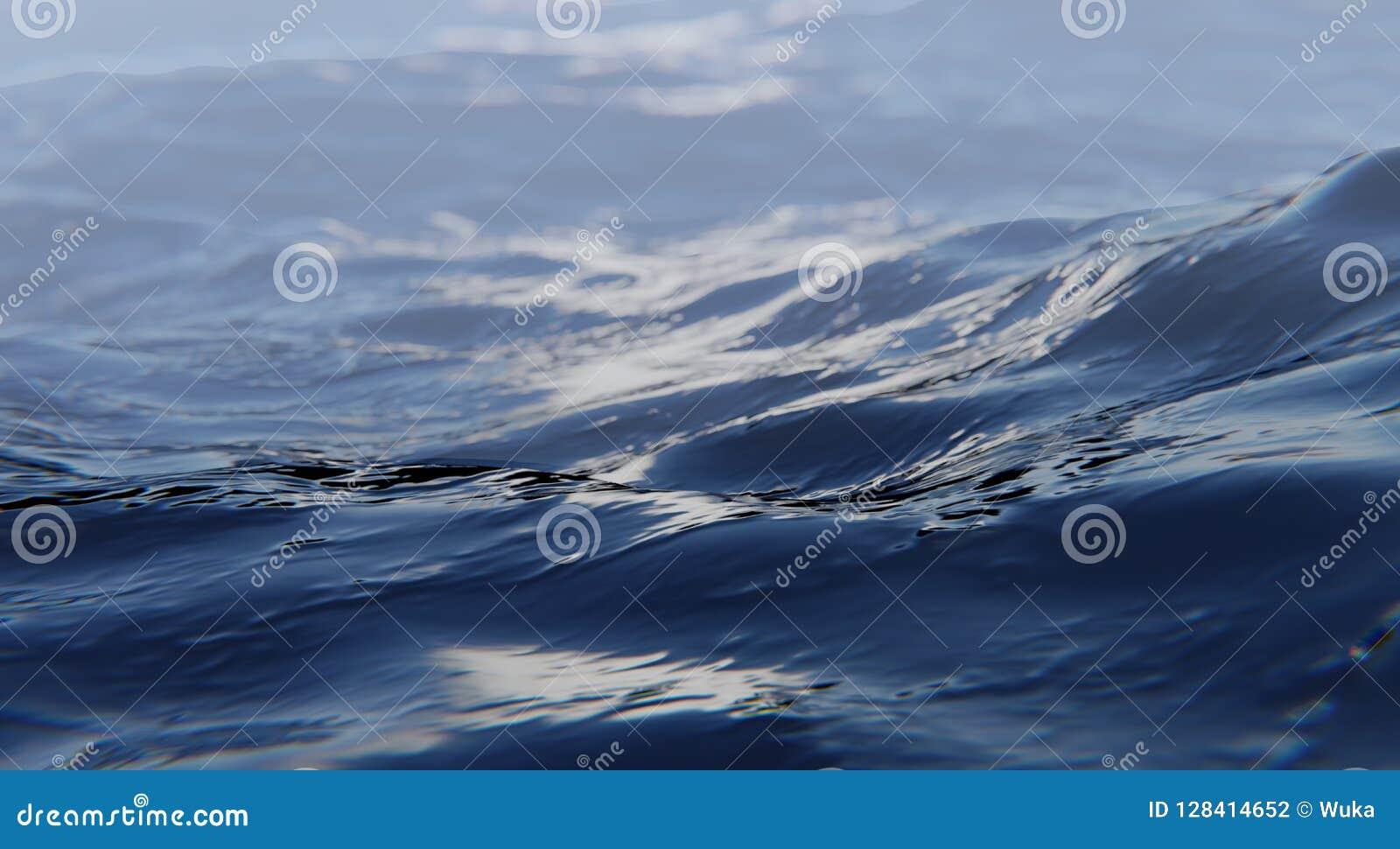 Абстрактный конец поверхности воды вверх Dept поля