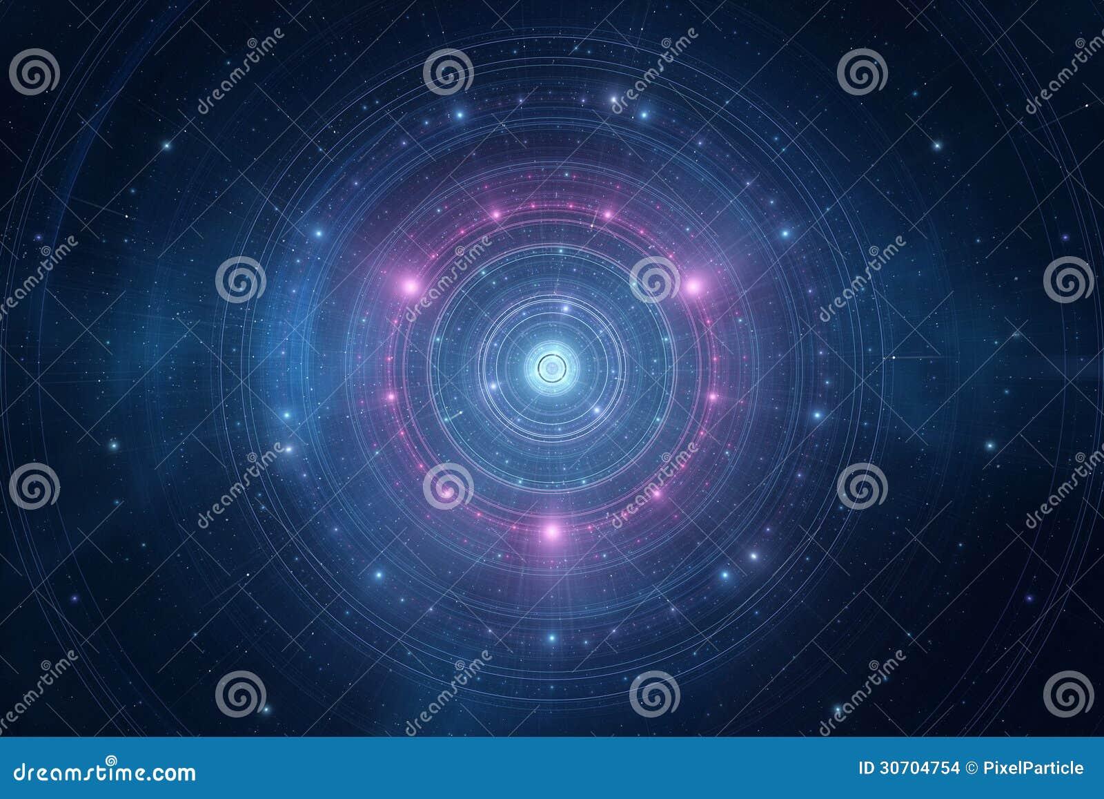 Абстрактный космос играет главные роли футуристическая новая предпосылка времени