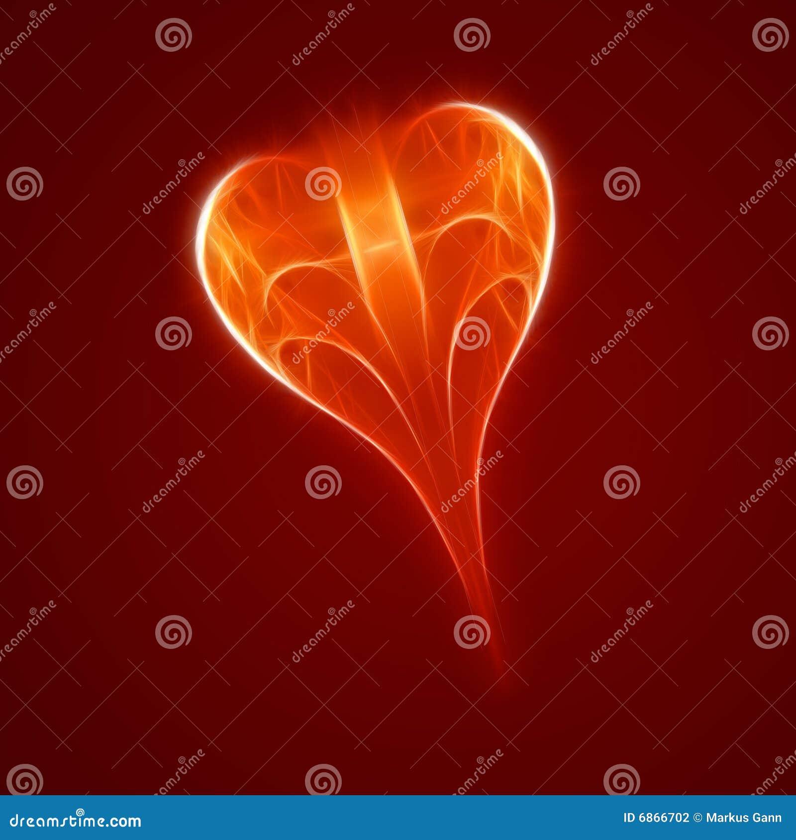 абстрактный красный цвет сердца