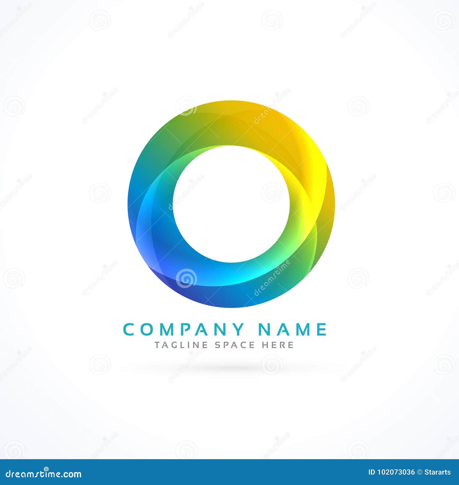 абстрактный красочный логотип круга