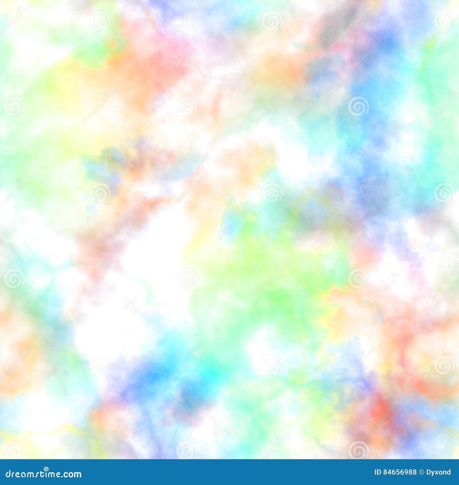 Абстрактный красочный дым на белой предпосылке Multicolor облака Картина радуги пасмурная Расплывчатый газ пар туман