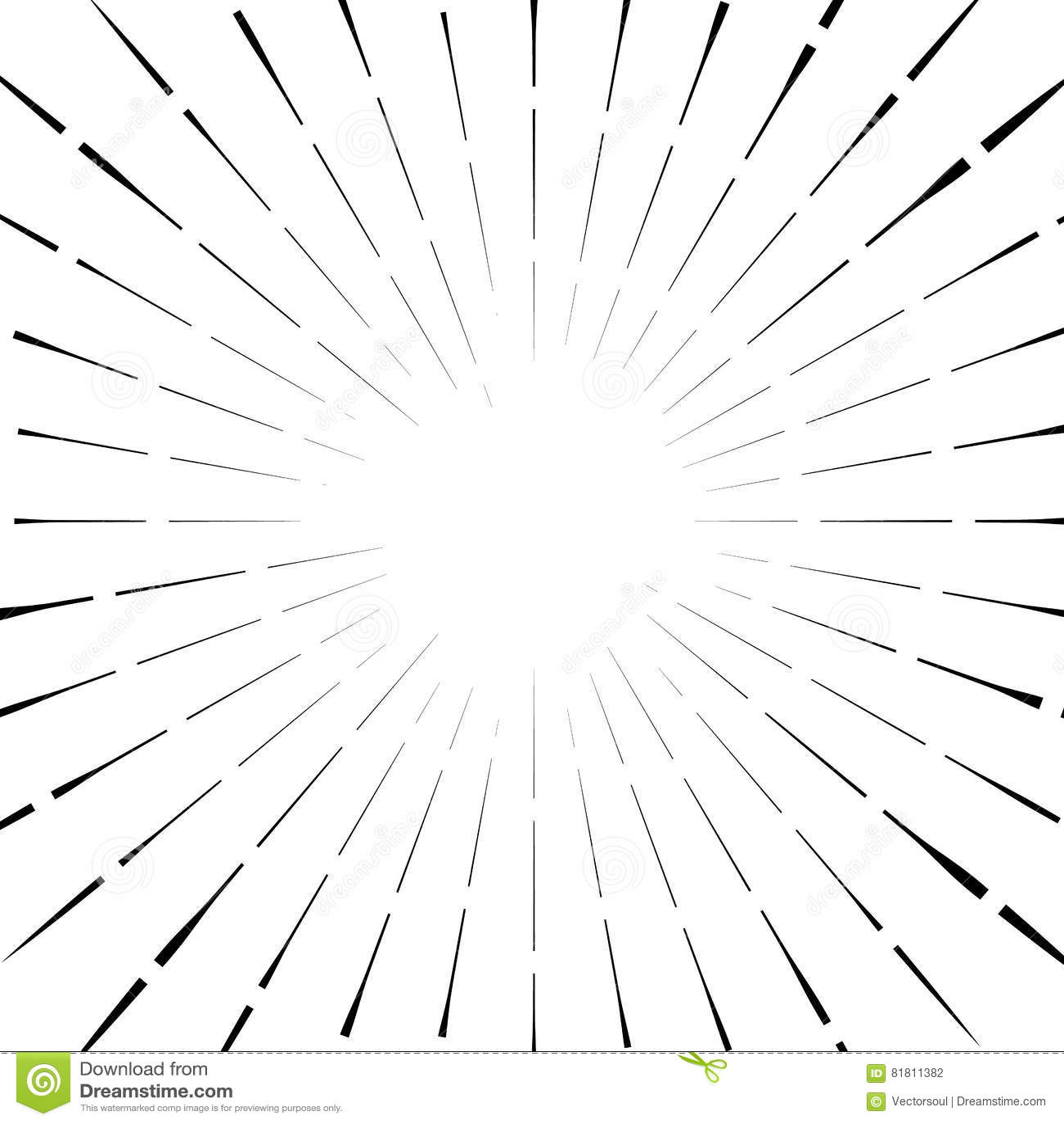 Абстрактный круговой элемент, радиальные линии форма геометрический элемент