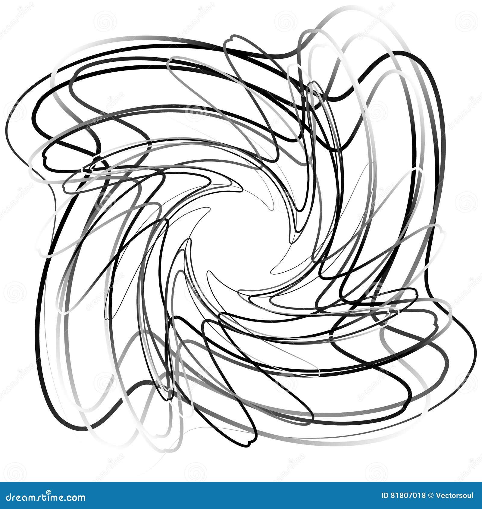 Абстрактный круговой элемент с случайными формами Monochrome geometr