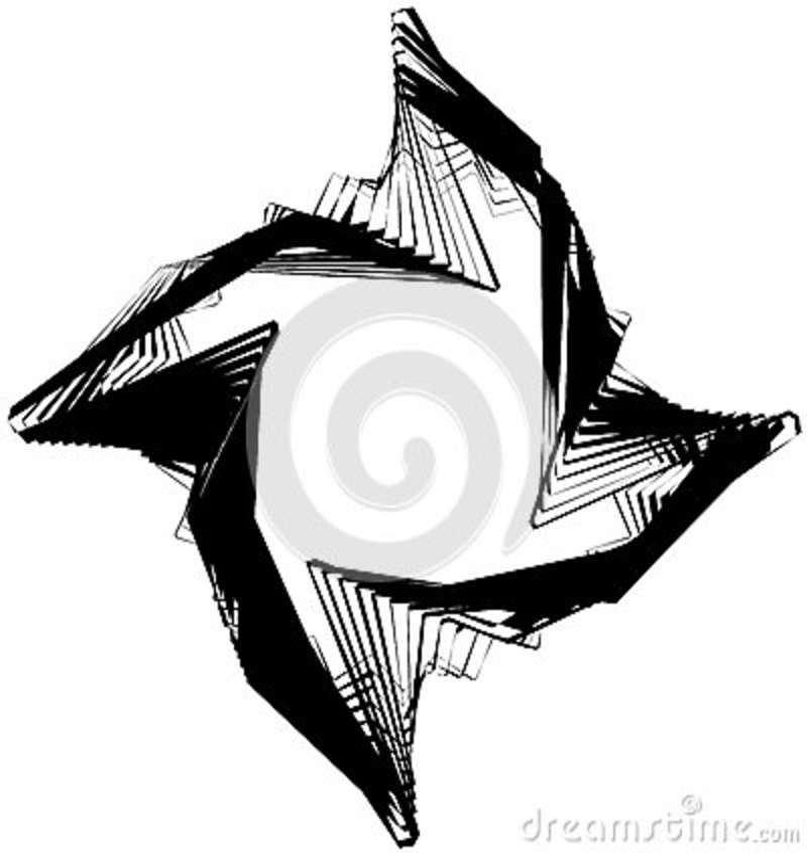 Абстрактный круговой элемент Monochrome геометрическая иллюстрация внутри