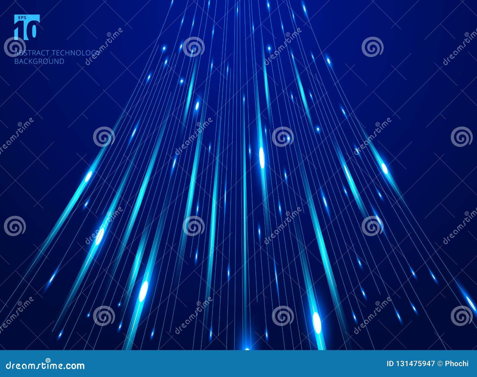 Абстрактный лазер движения скорости высоты выравнивает картину и нерезкость движения на темно-синей концепции технологии предпосы