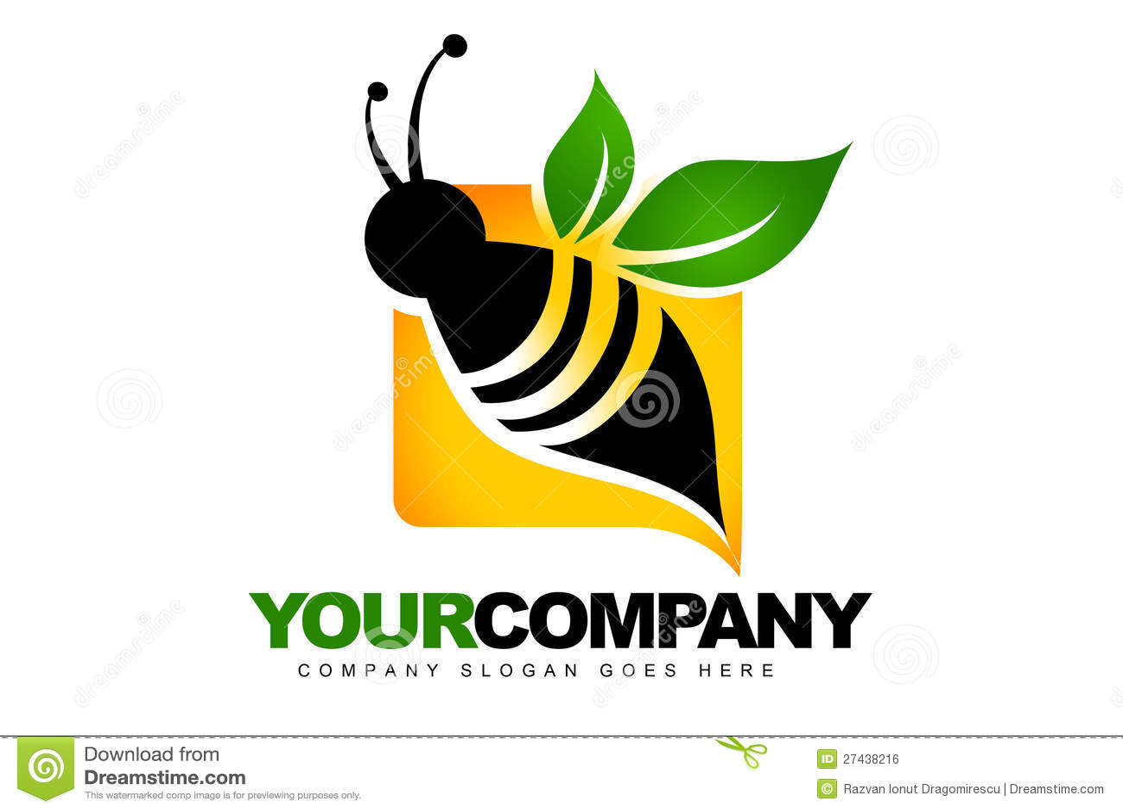 Абстрактный логос пчелы