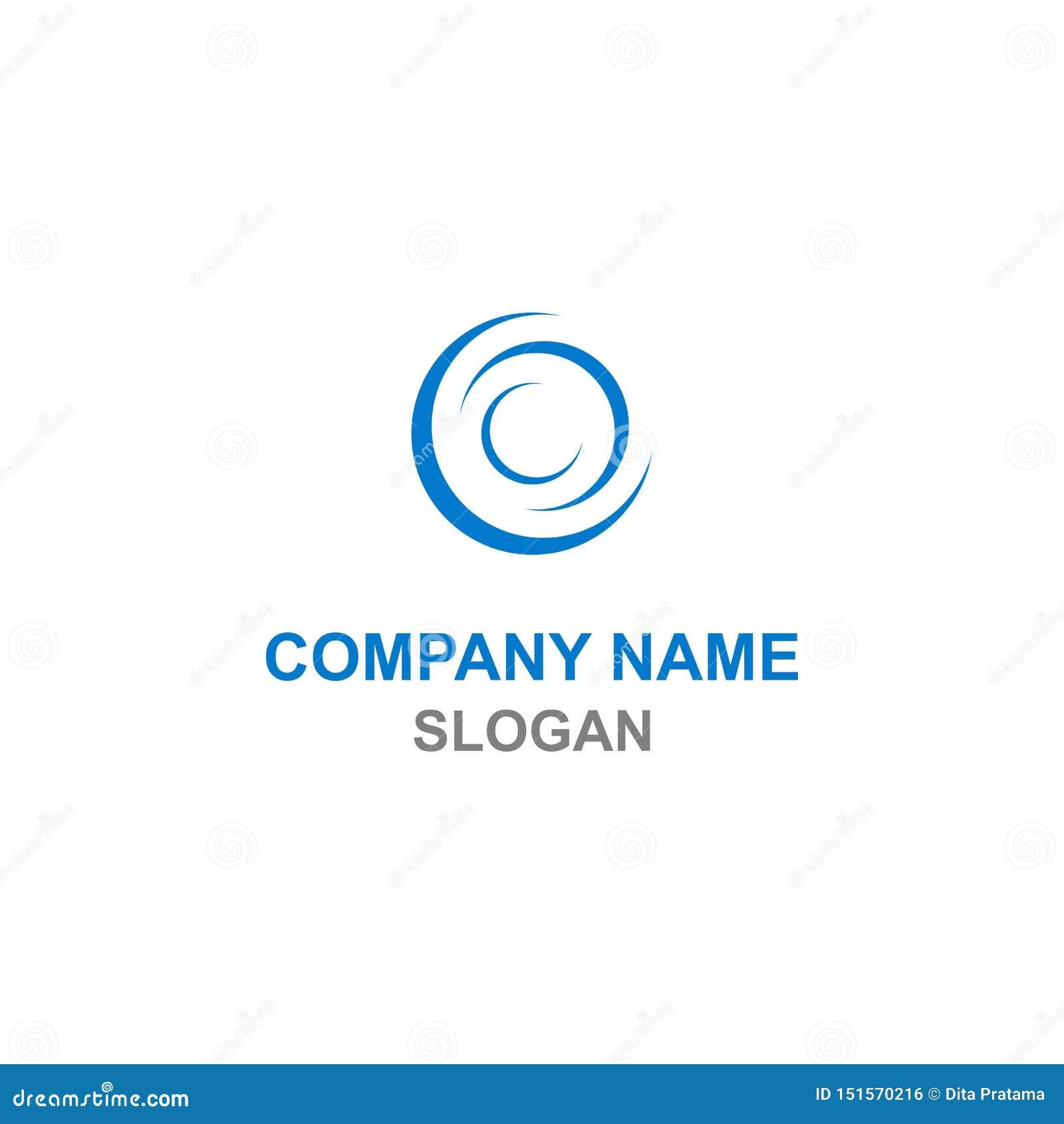 Абстрактный логотип инициала письма c круга