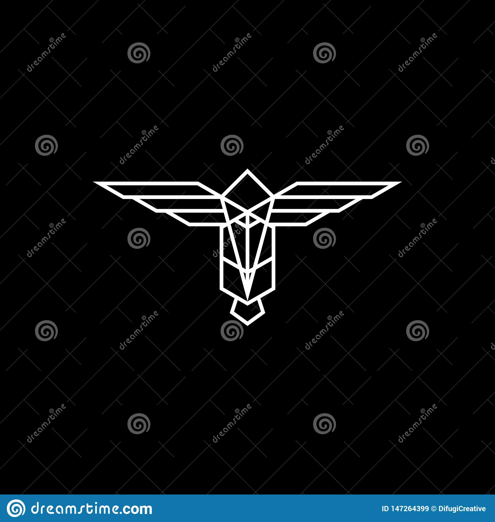 Абстрактный логотип тотема