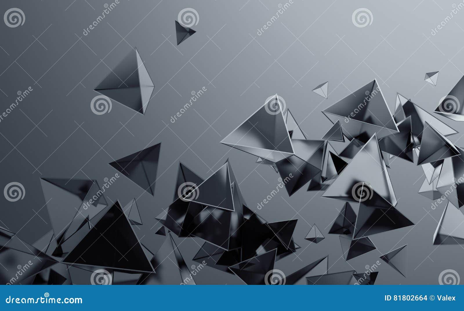 Абстрактный перевод 3D летать полигональные формы